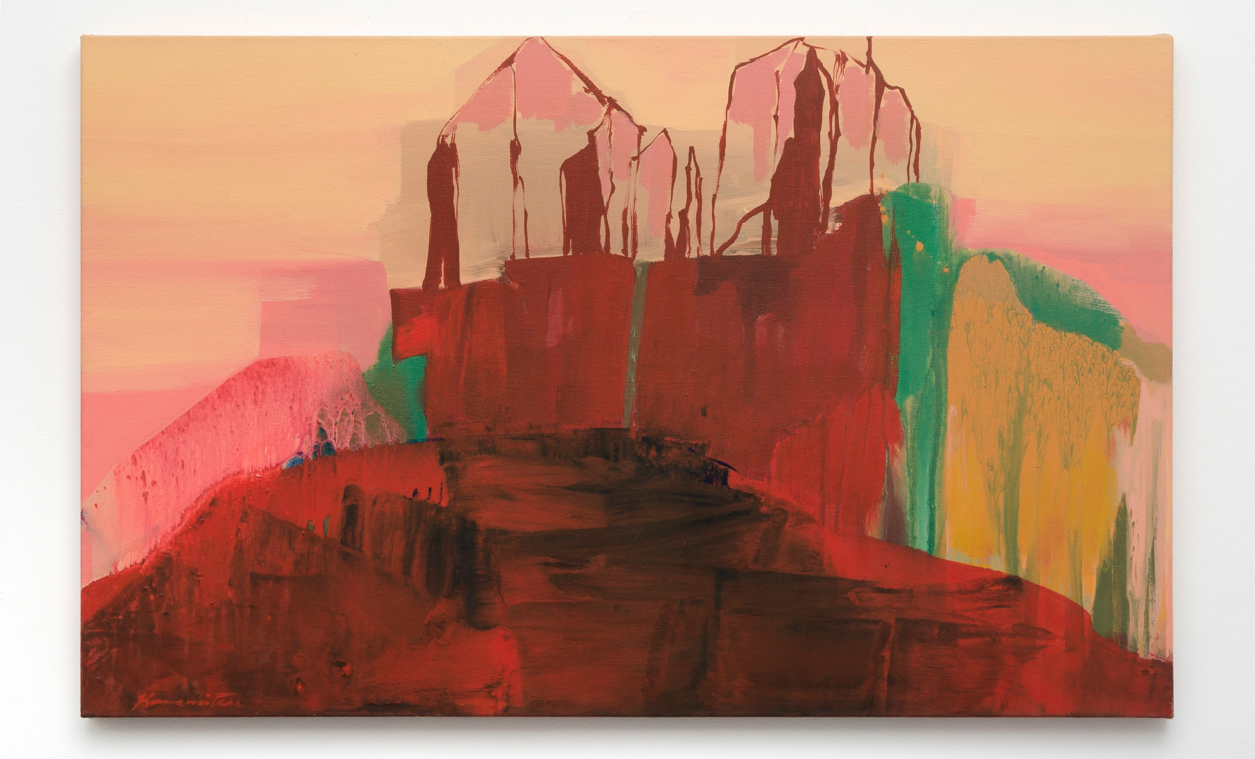 Sunset – Desert   1989  acrylic on canvas  30.25 x 48.25 inches, 76.8 x 122.6 centimeters