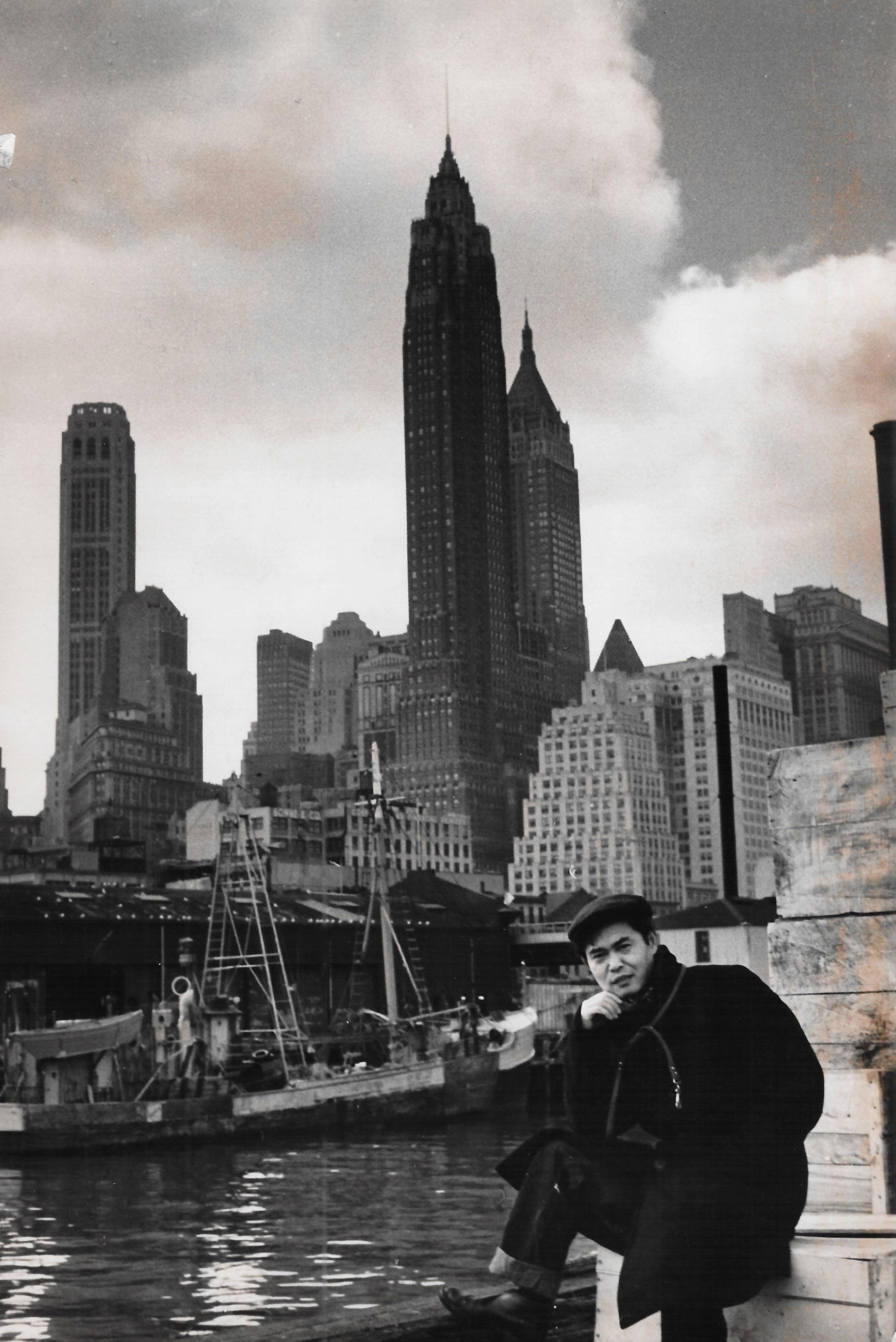 Kanemitsu in New York, 1954.