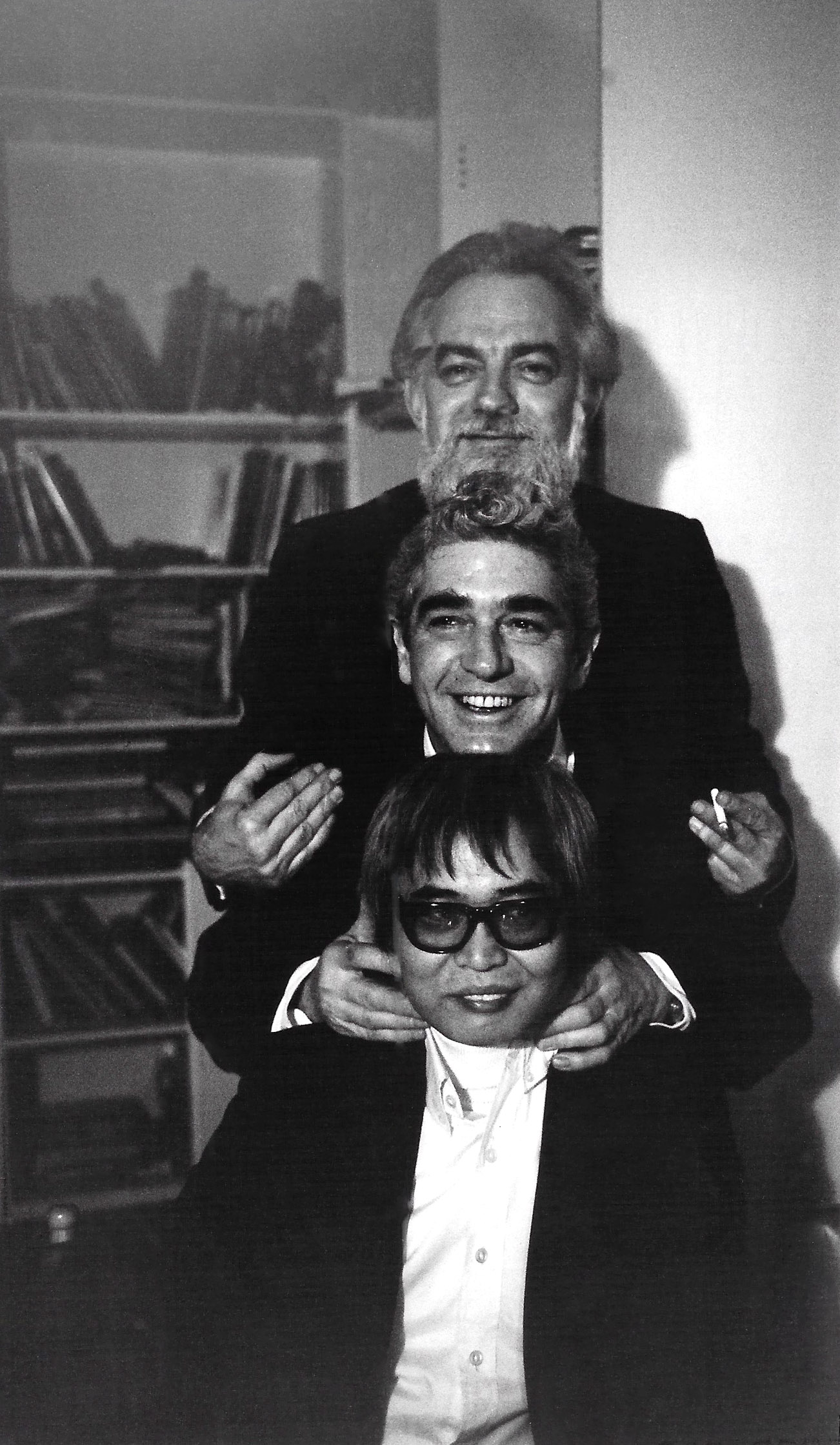 Jenkins, Maloney, and Kanemitsu in New York, 1967. Photographed by Syeus Mottel.
