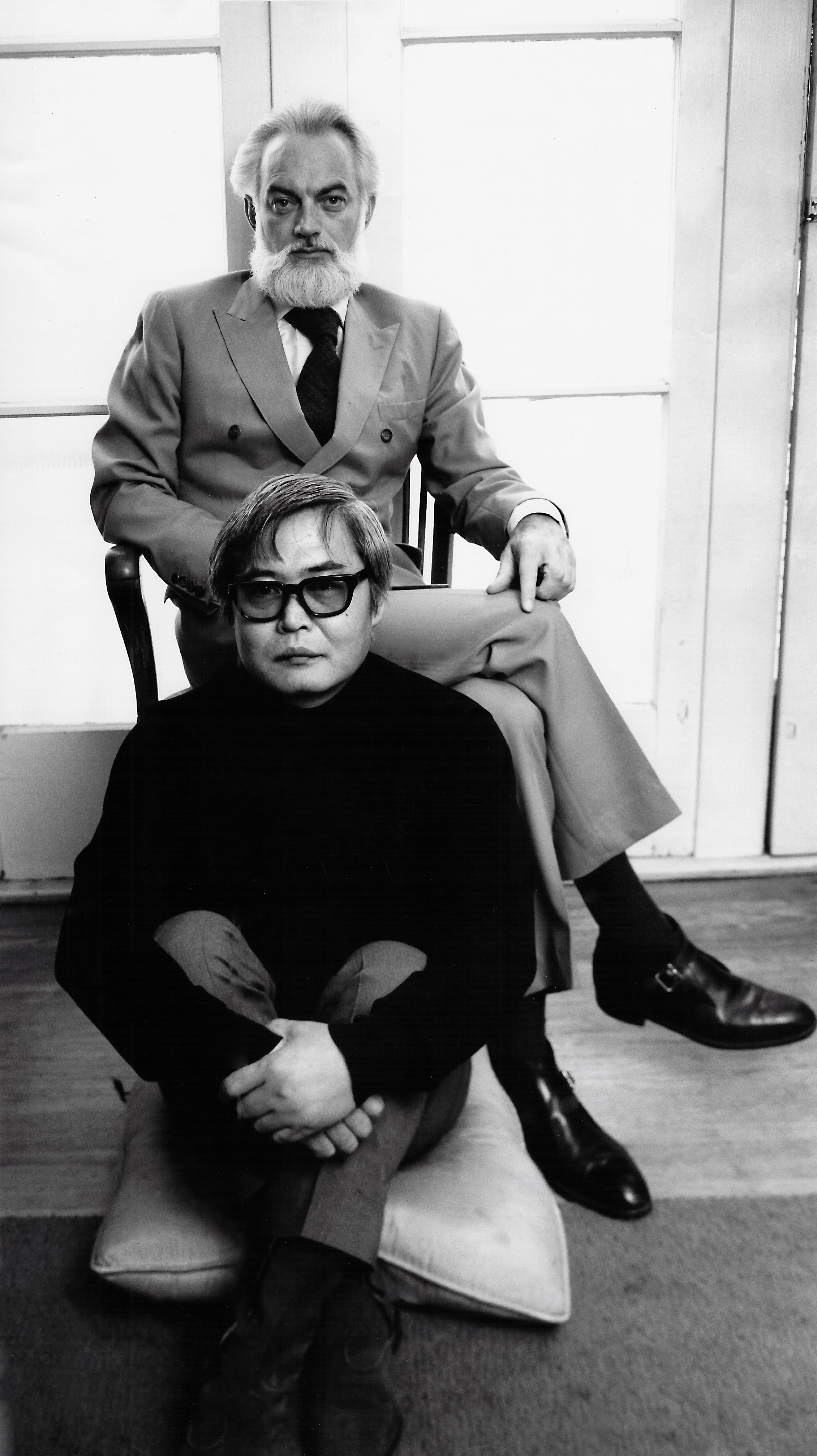 Kanemitsu and Jenkins. Photographed by Shigeo Ikeda.