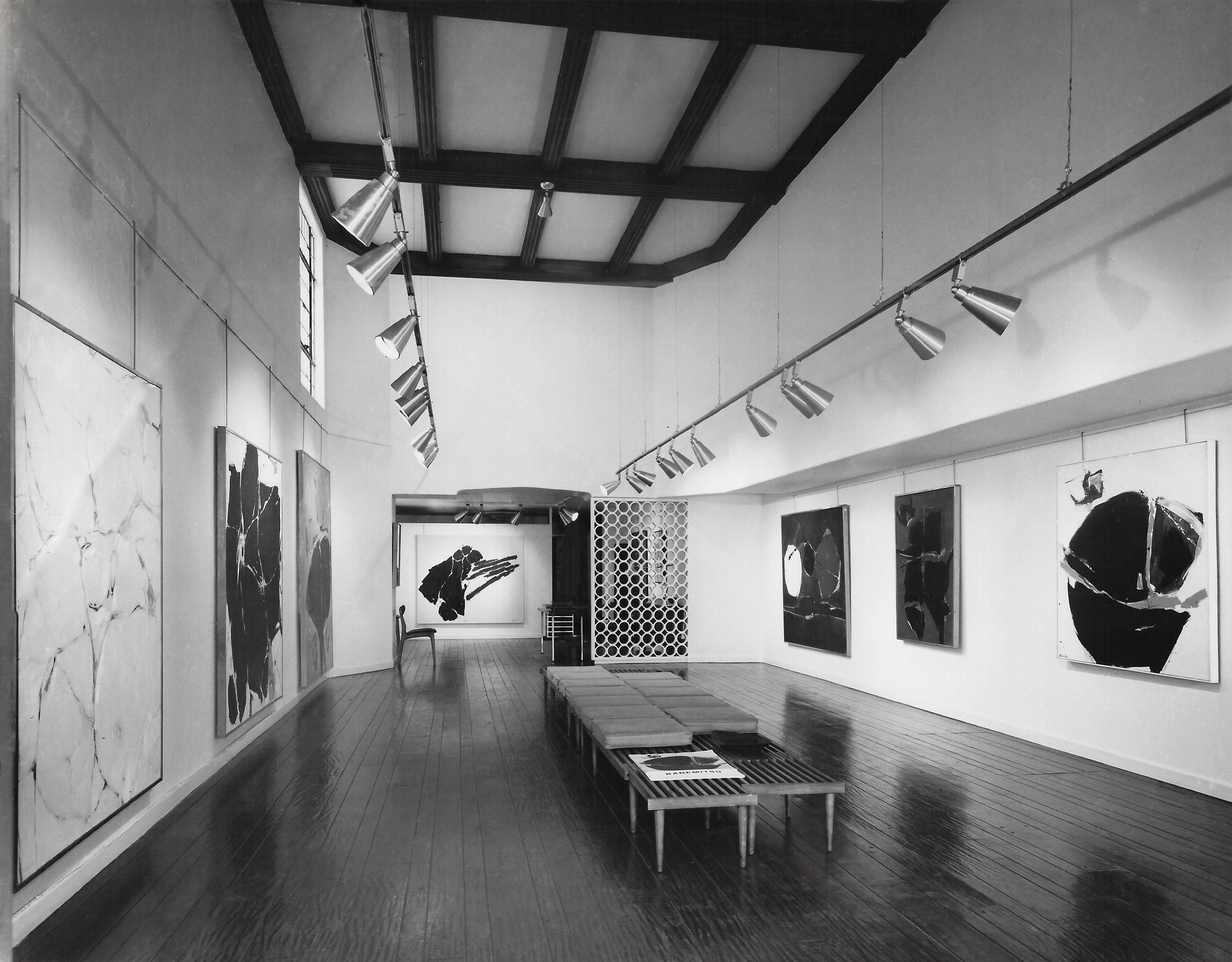 Works by Matsumi Kanemitsu at the Dwan Gallery, 1962.