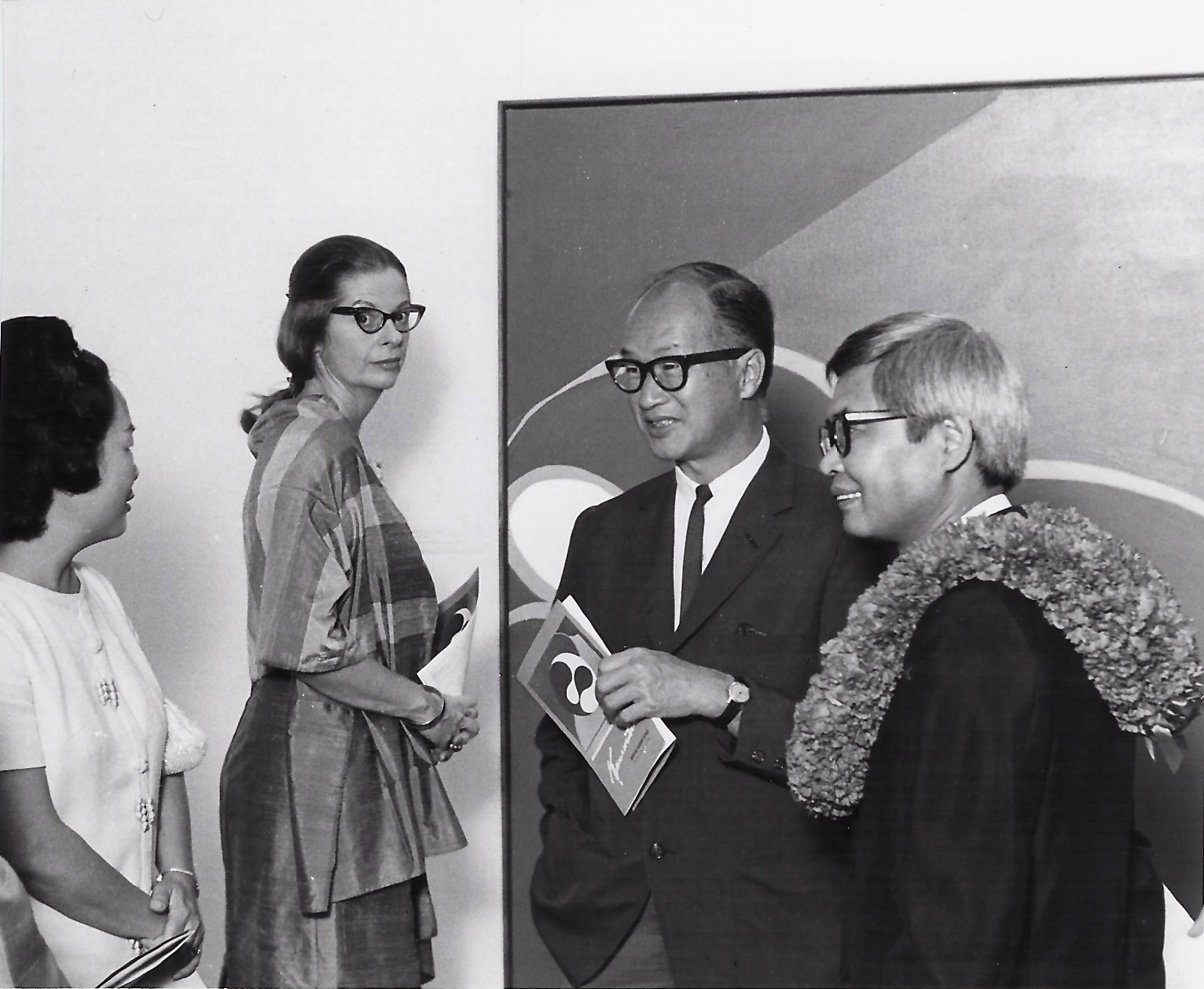 Exhibition of works by Kanemitsu at the Honolulu Academy of Arts, 1967.