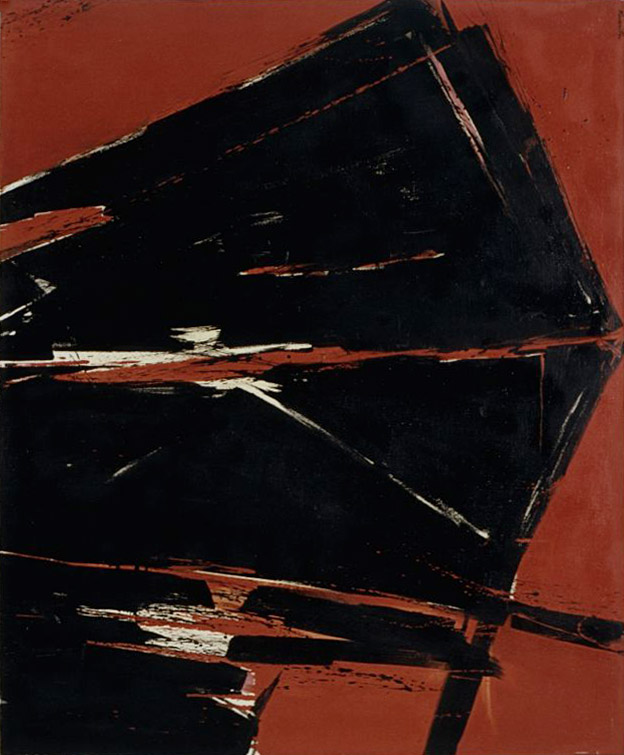 Quarter to Five   1959  oil on canvas  50 x 60 inches