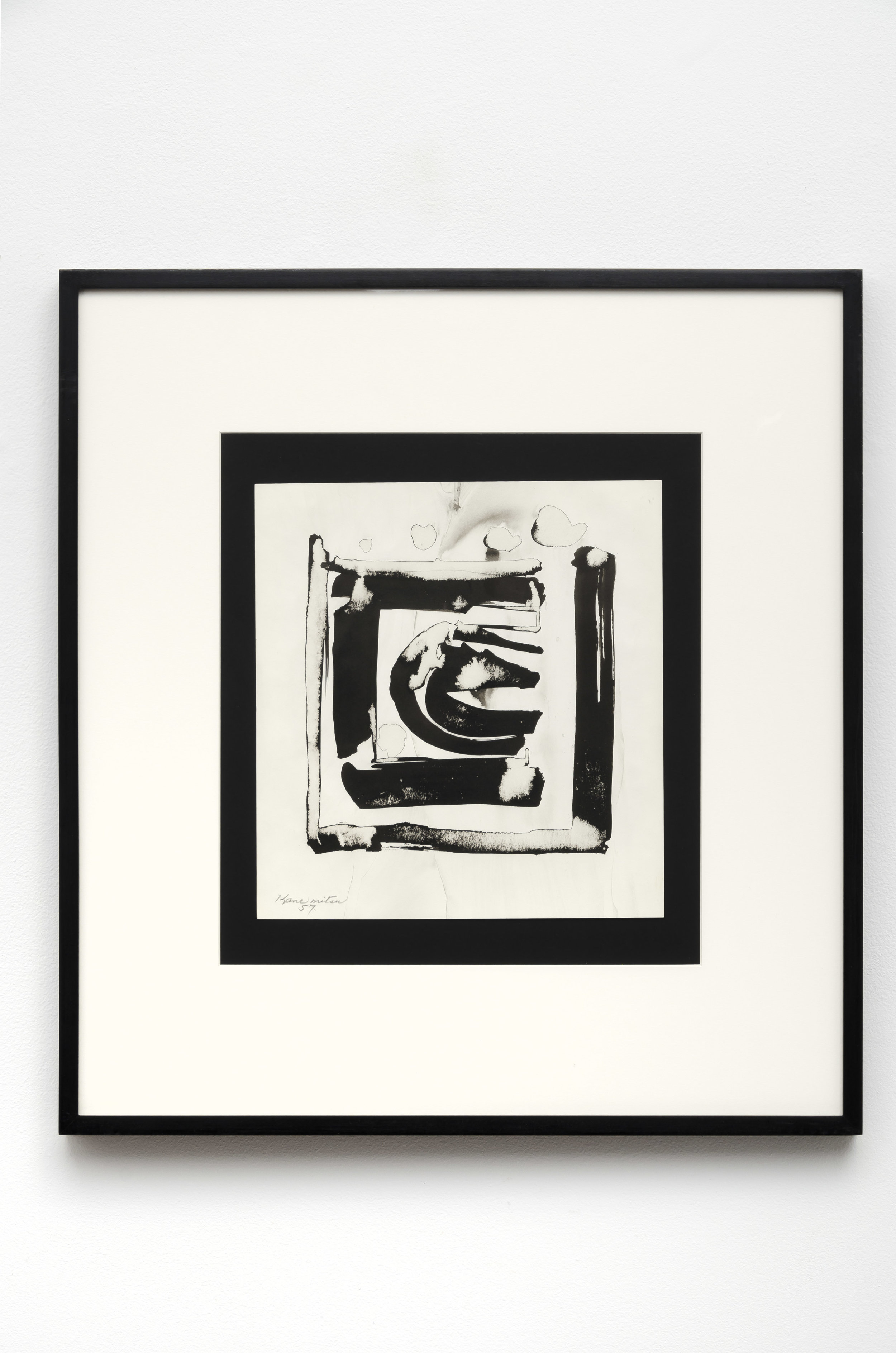 Study for Window , 1957 sumi ink on paper 23.75 x 21.75 inches; 60.3 x 55.2 centimeters