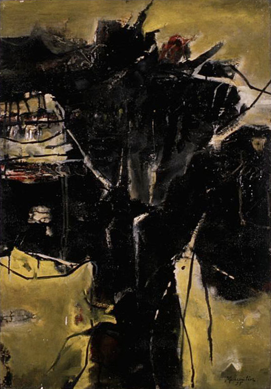 Winter-55 , 1955 oil and enamel on canvas 30 x 21 inches; 76.2 x 53.3 centimeters