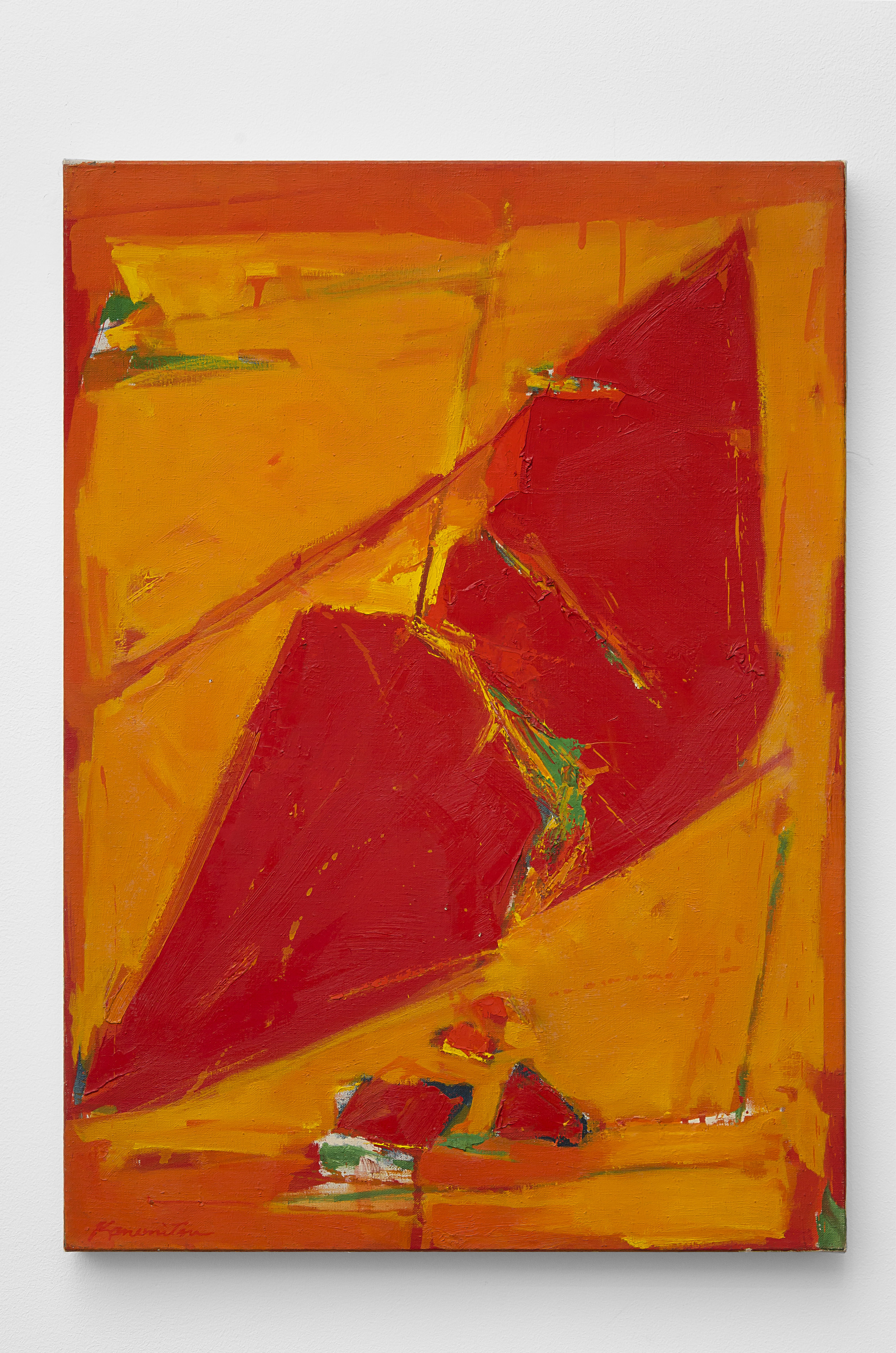 Untitled (Red) , 1960 acrylic on canvas 28 x 20 inches; 71.1 x 50.8