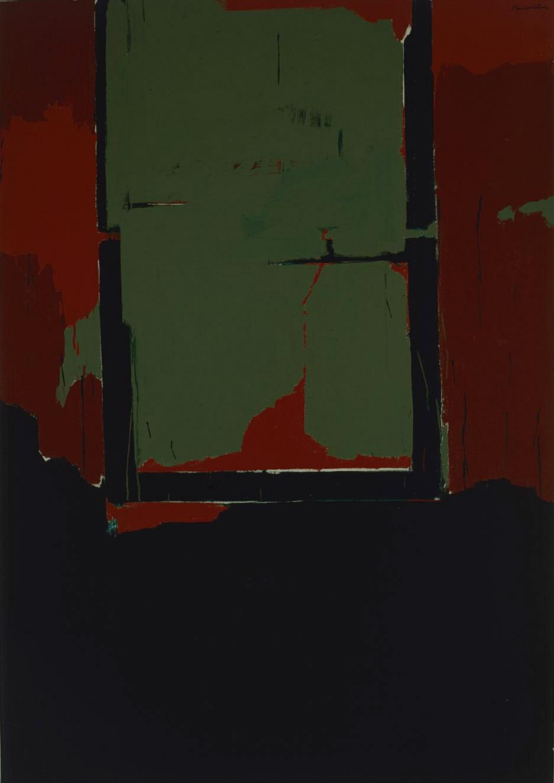 The E , 1963 acrylic on canvas