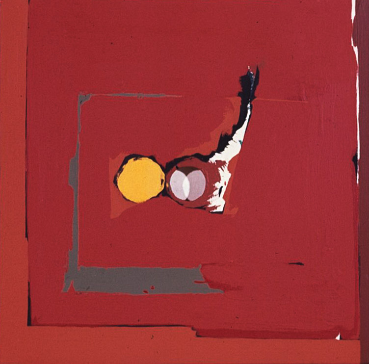 Kiss , 1963 acrylic on canvas 20 x 20 inches; 50.8 x 50.8 centimeters