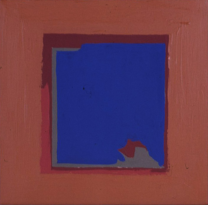 S-6 , 1963 acrylic on canvas 16 x 16 inches; 40.6 x 40.6 centimeters