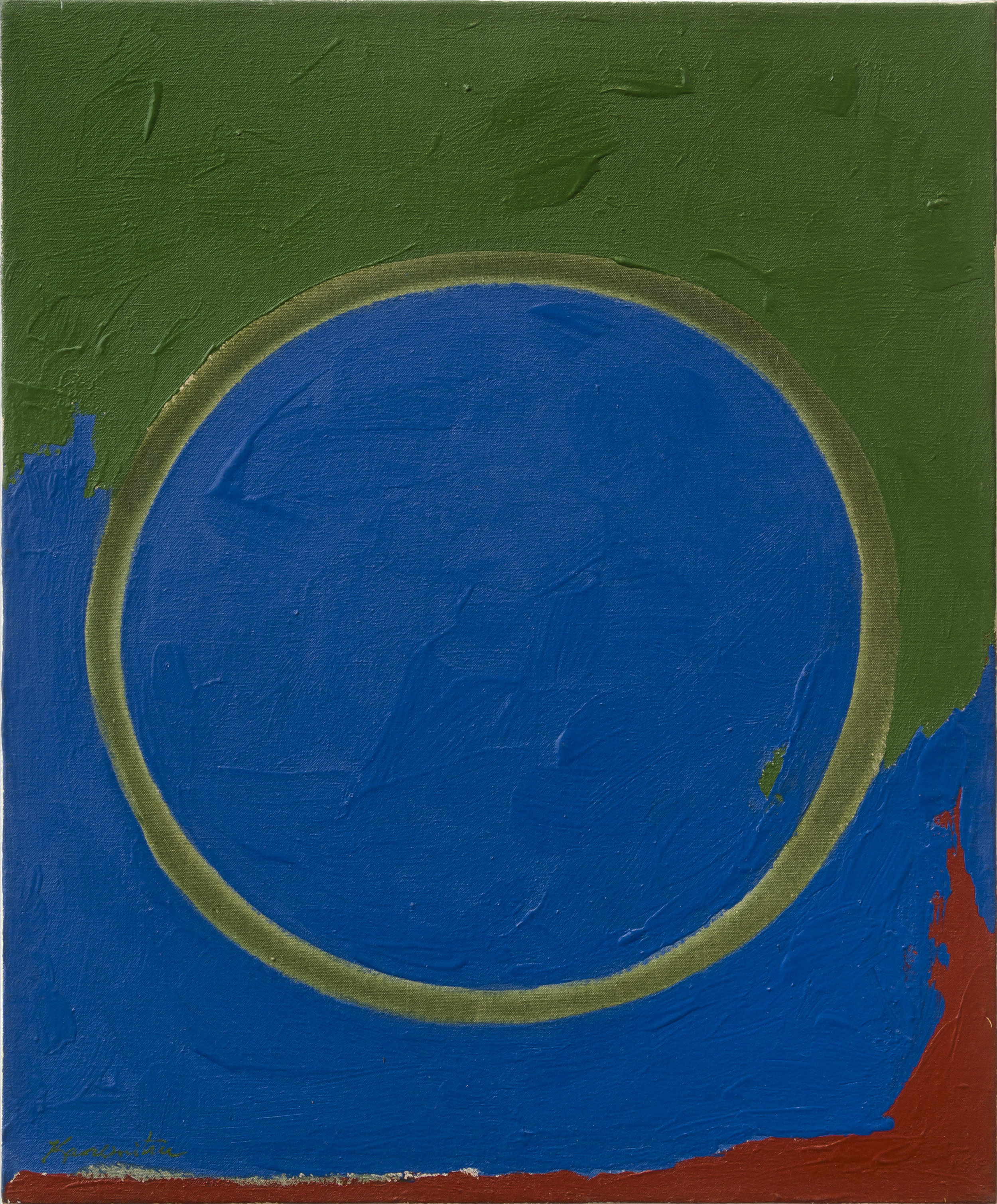 Opening , 1962 acrylic on canvas 24 x 20 inches; 61 x 76.2 centimeters