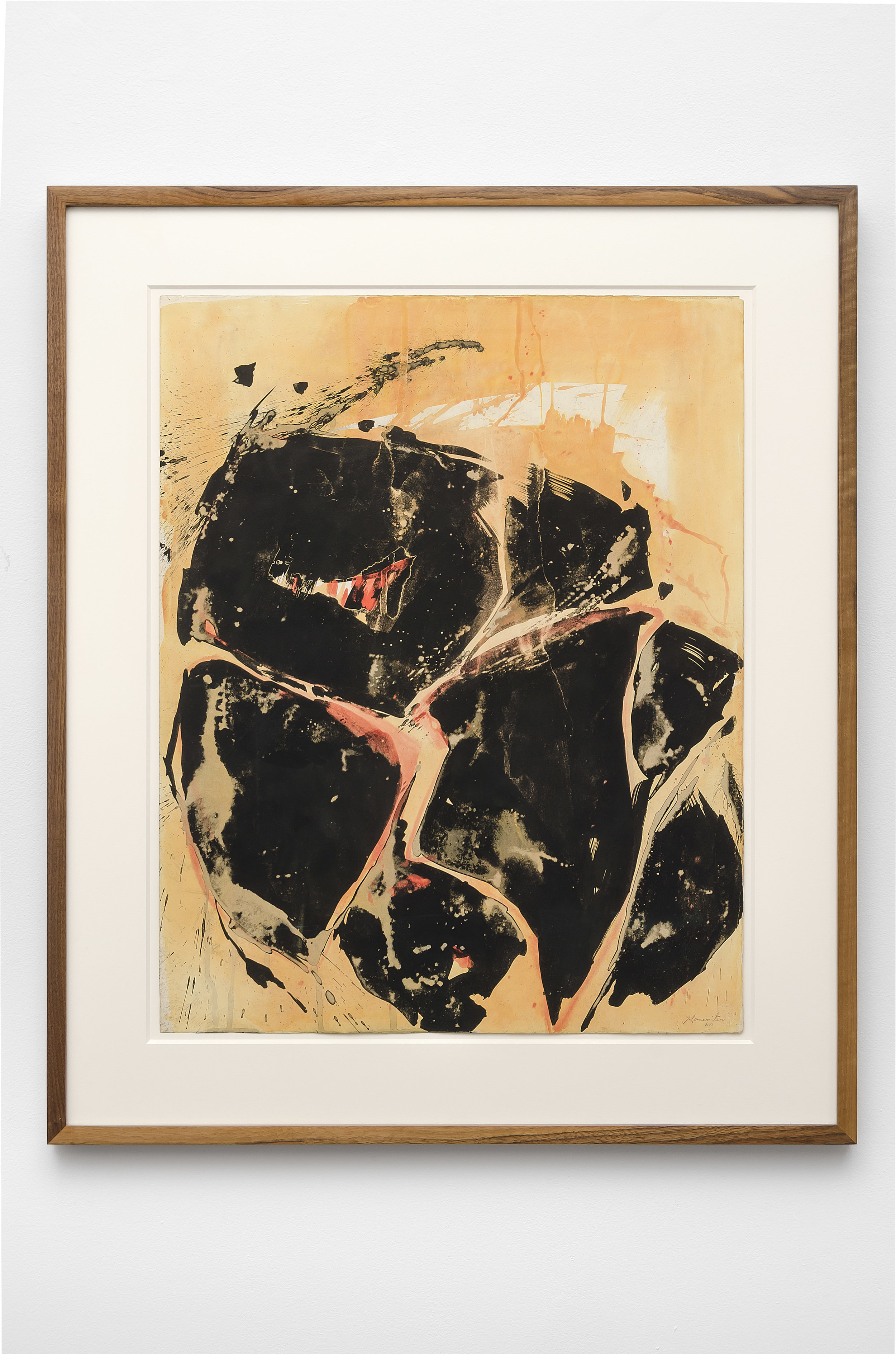 Yellow-Orange-Black , 1960 sumi ink and watercolor on Strathmore 29 x 22 7/8 inches; 73.7 x 58.1 centimeters