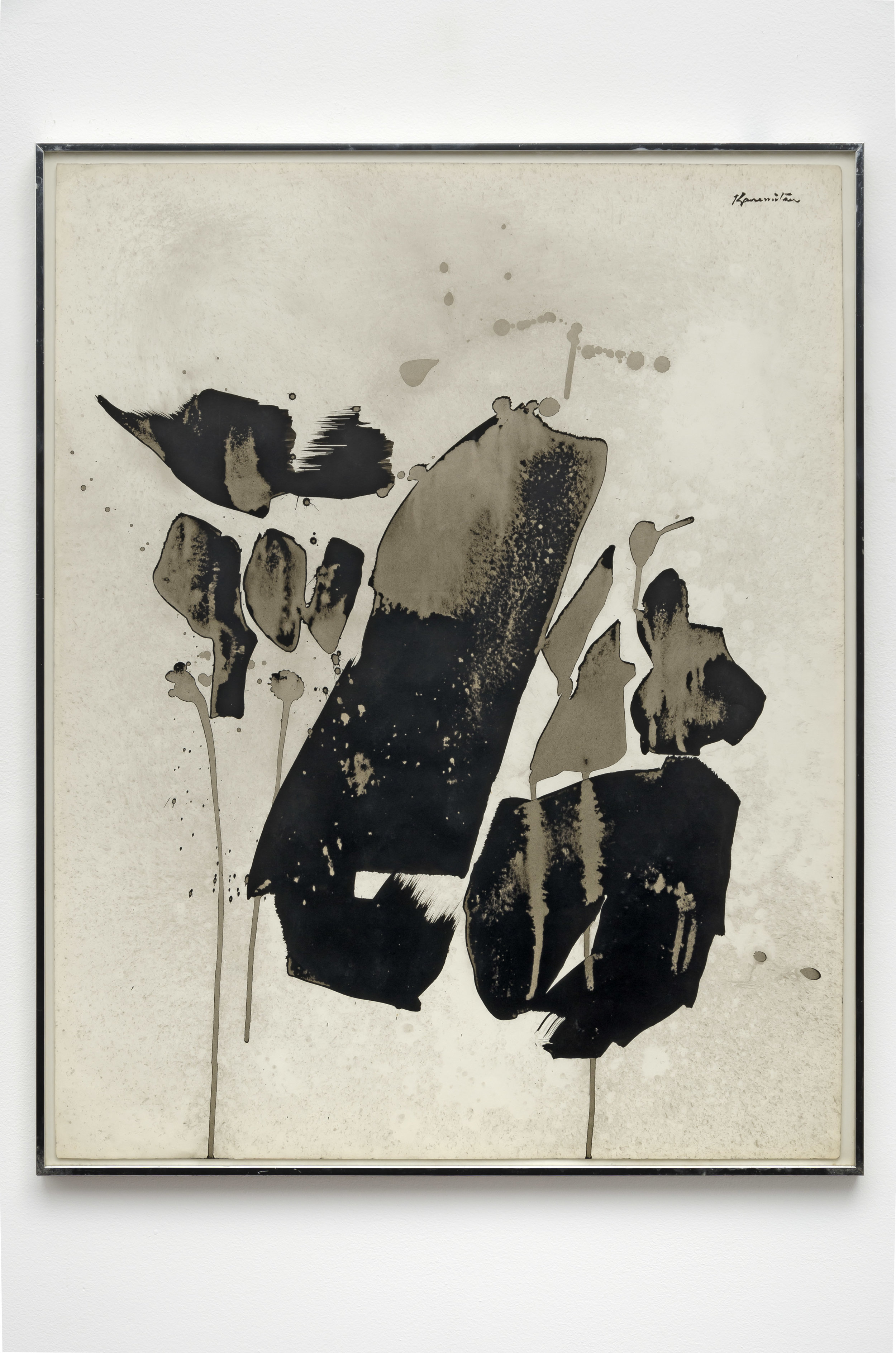 QZ #15 , 1961 sumi ink on paper 29 x 23 inches; 73.7 x 58.4 centimeters