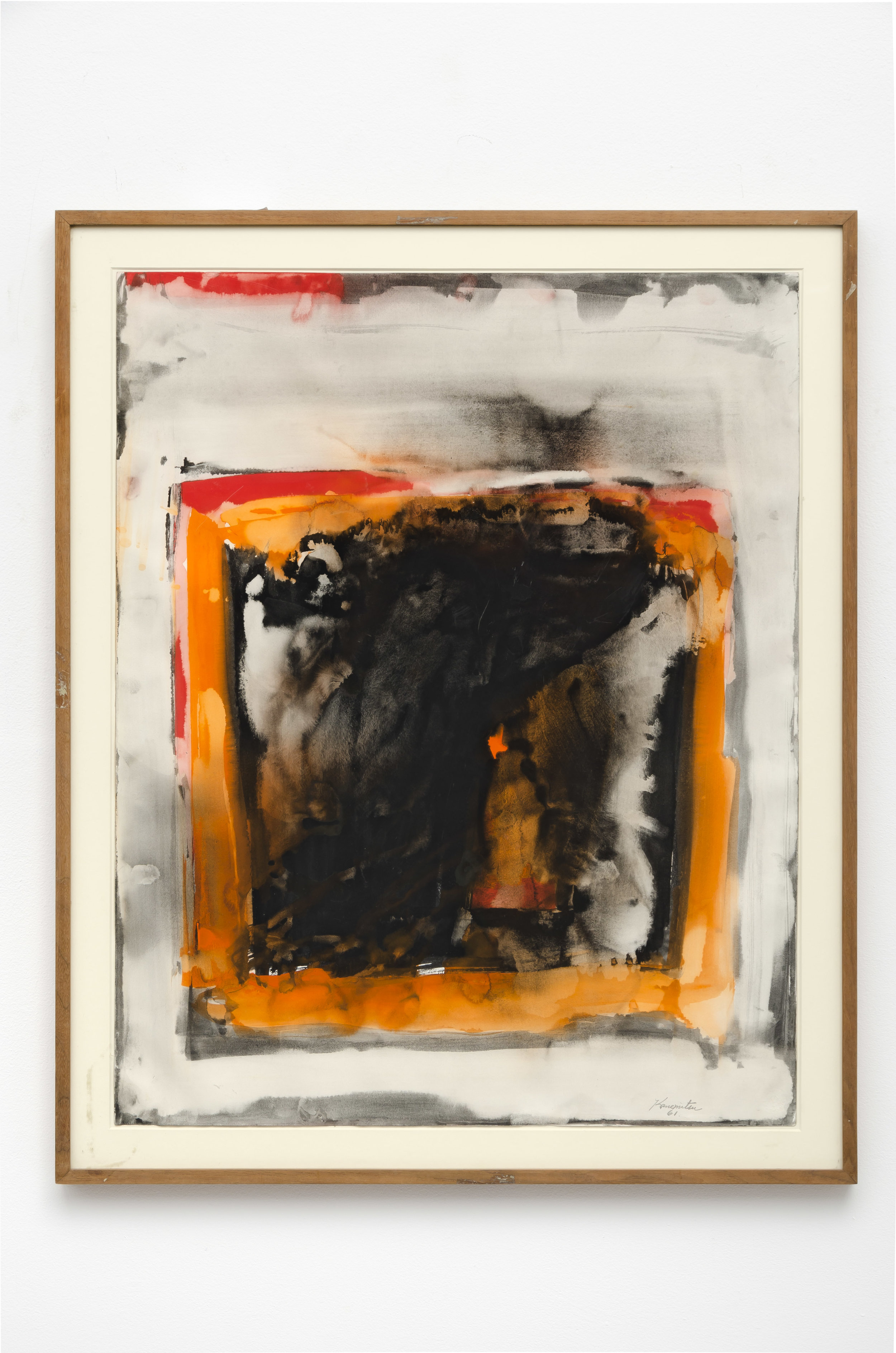 Untitled , 1961 watercolor on paper 29 x 23 inches; 73.7 x 58.4 centimeters