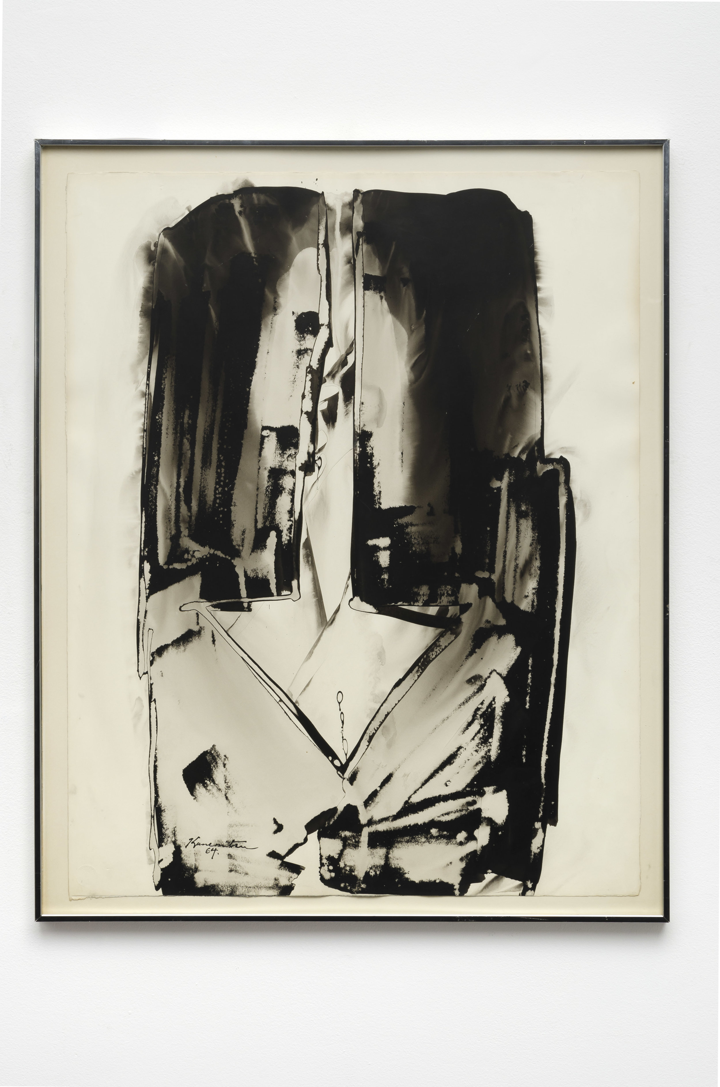 Arrow Series , 1964 sumi ink on paper 29 x 22.5 inches; 73.7 x 57.1 centimeters