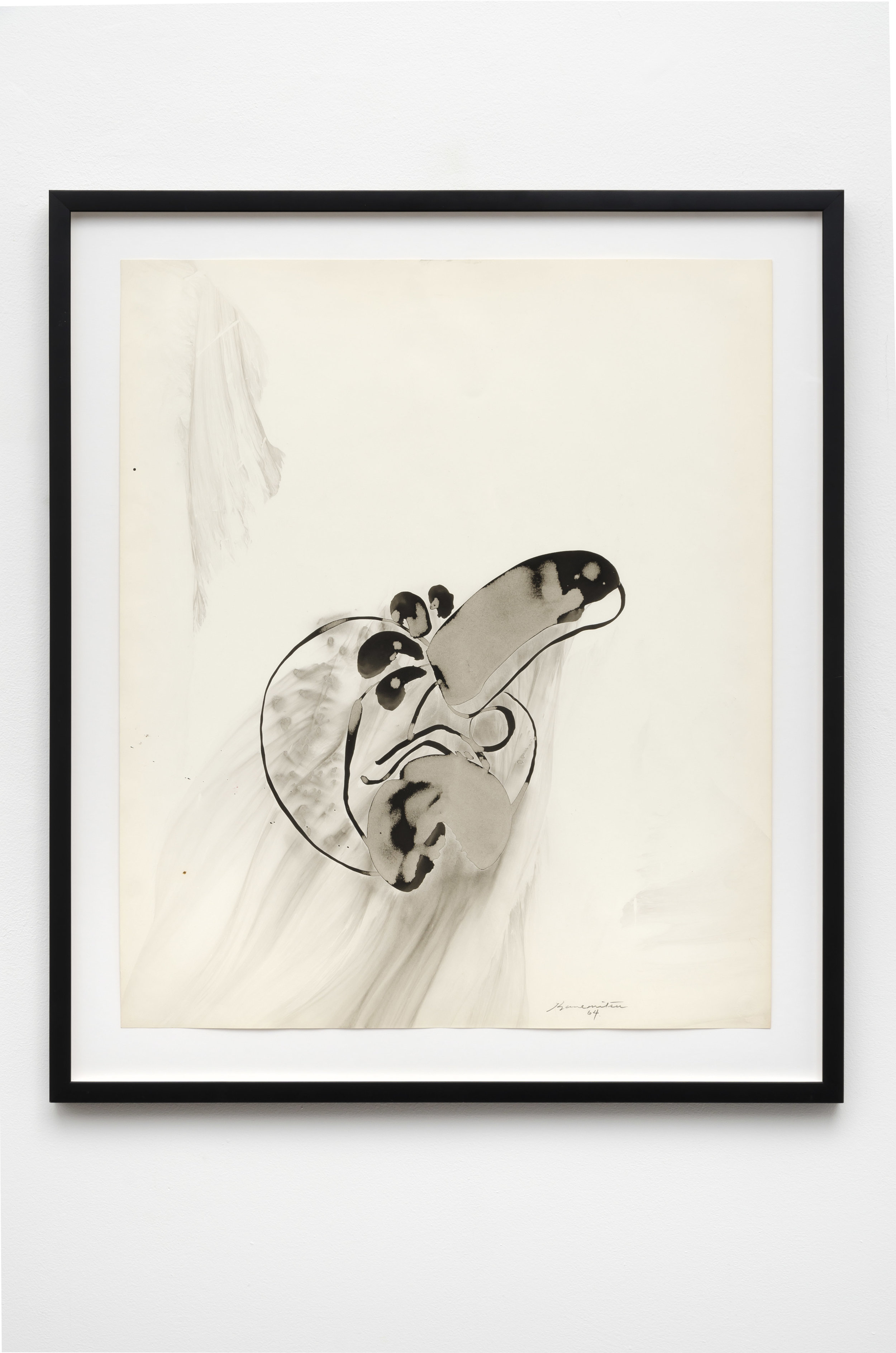 Untitled , 1964 sumi ink on paper 32.5 x 28 inches; 82.5 x 71.1 centimeters