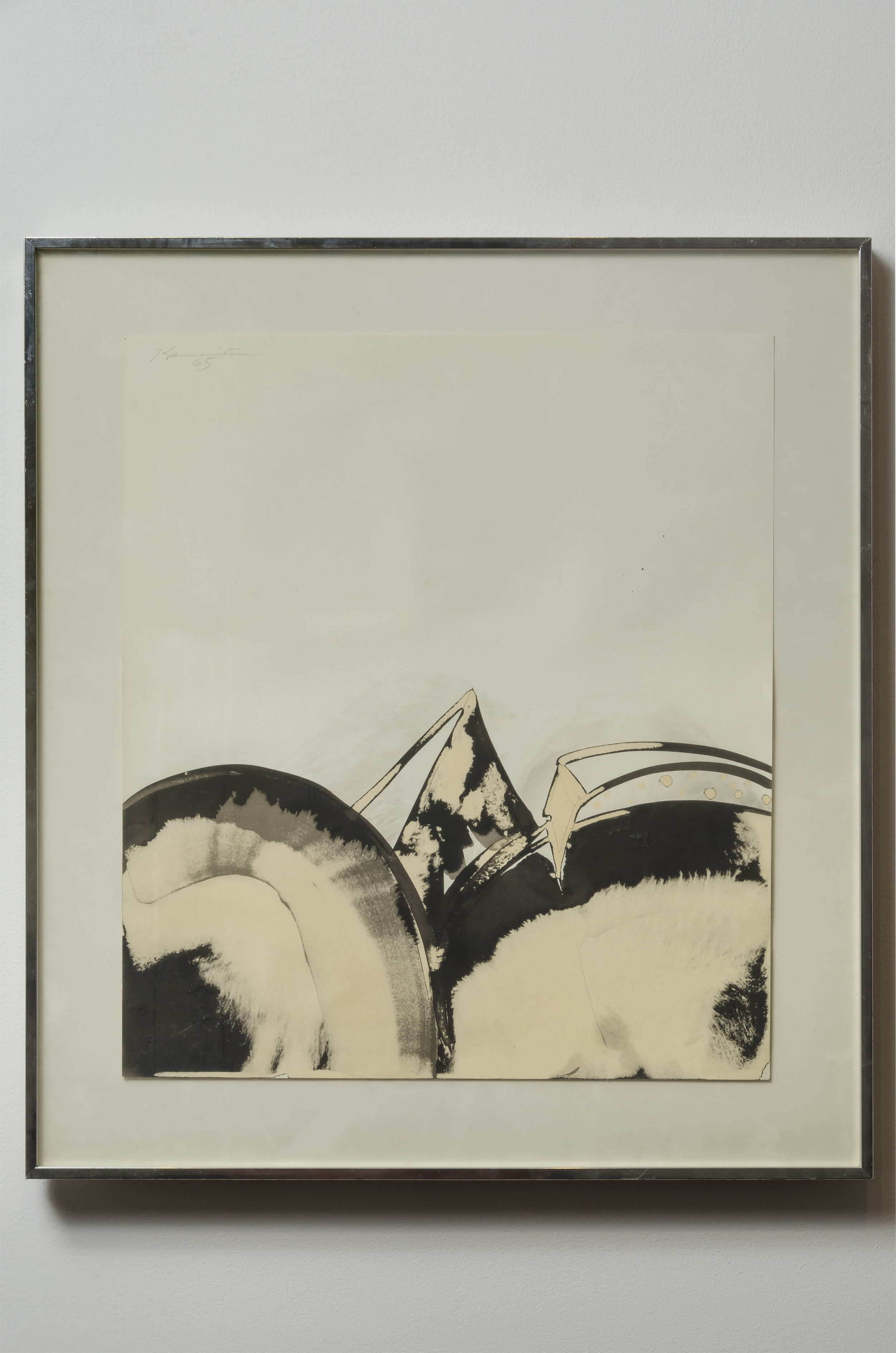 Untitled , 1965 sumi ink on paper 16 x 14 inches; 40.6 x 35.6 centimeters