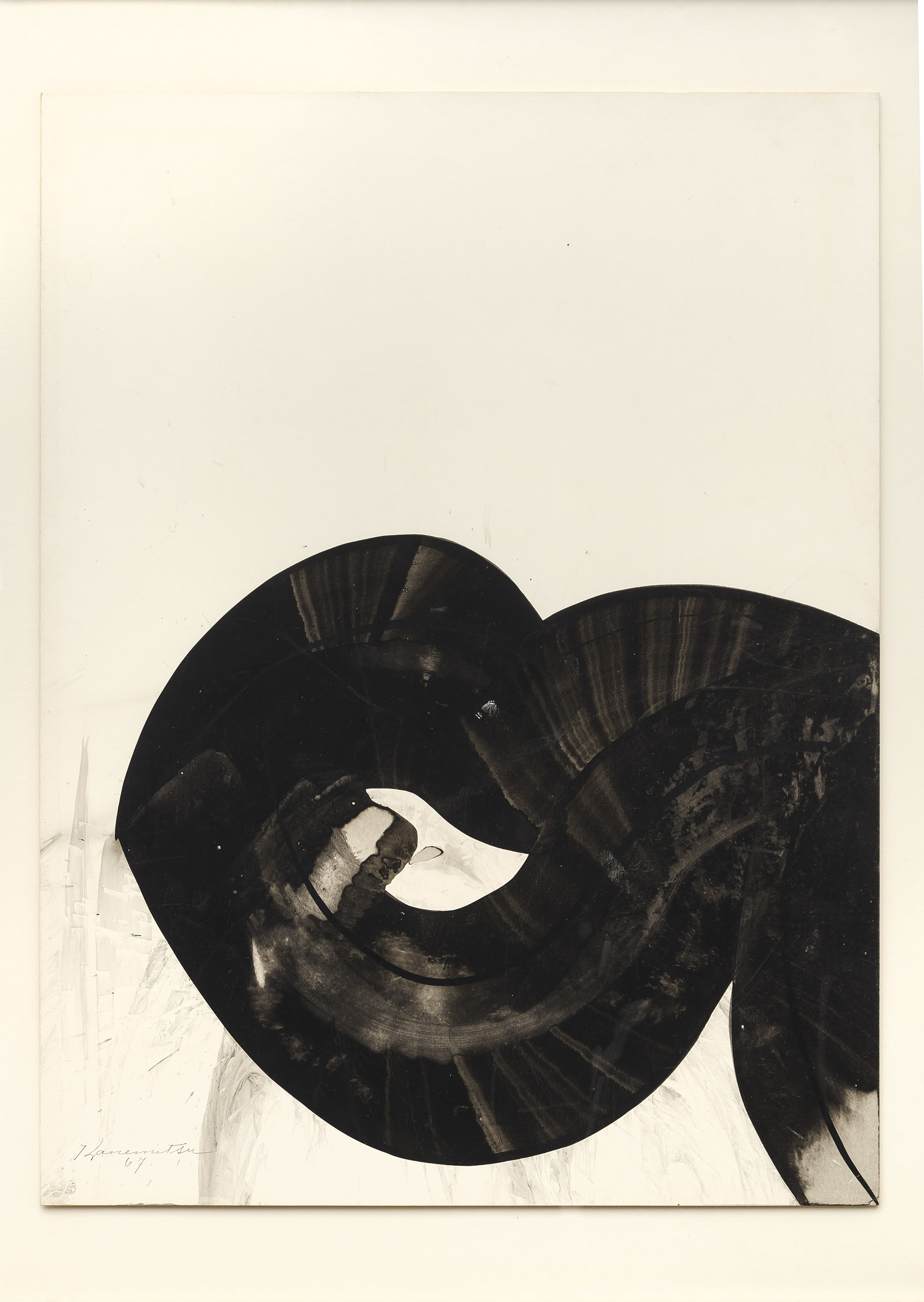 18-19 , 1967 sumi ink on paper 20 x 15 inches; 50.8 x 38.1 centimeters
