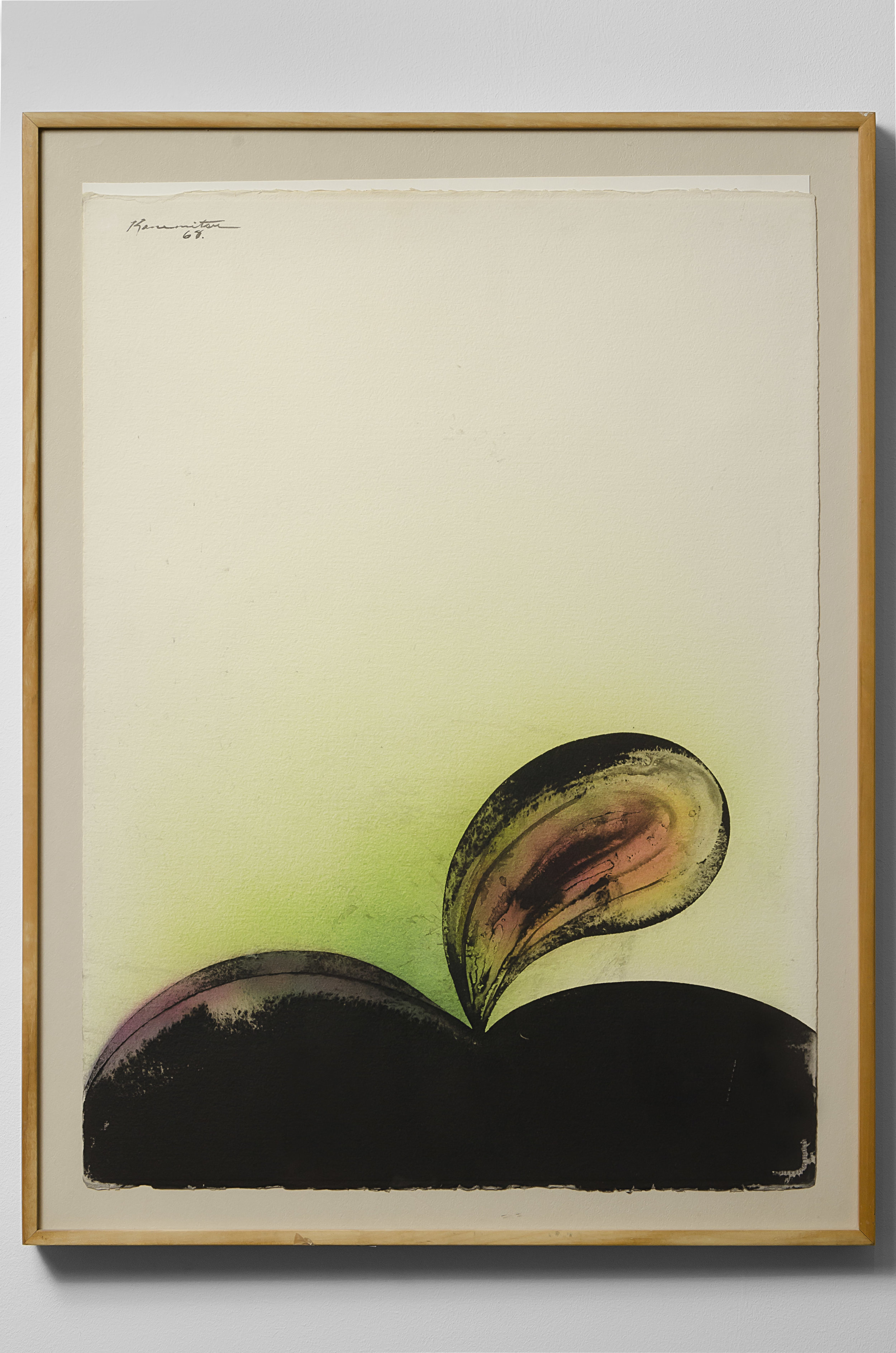 Morning Series #16 , 1968 watercolor and sumi ink on paper 30.5 x 22.5 inches; 77.5 x 57.2 centimeters