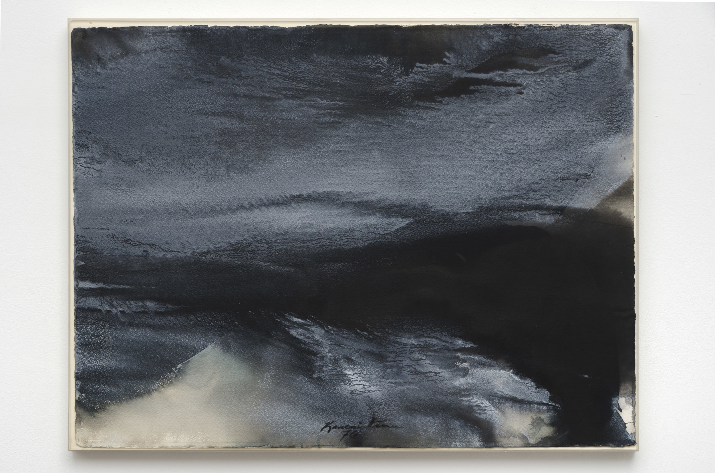 Mackerel Sky, San Francisco Bay , 1976 acrylic on paper 23 x 30 inches; 58.4 x 76.2 centimeters