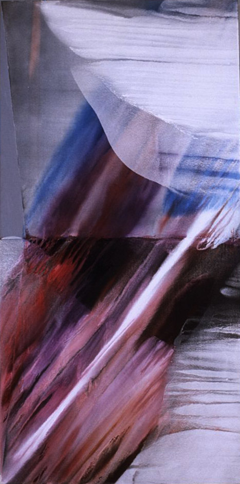 August Storm , 1977-80 acrylic on canvas 48 x 96 inches; 121.9 x 243.8 centimeters