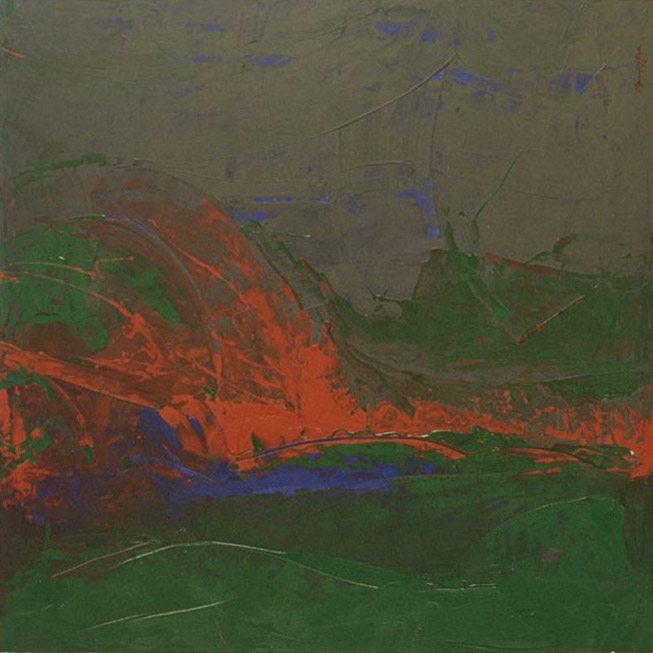 Santa Ana Wind , 1970 acrylic on Canvas 72 x 72 inches; 182.9 x 182.9 centimeters
