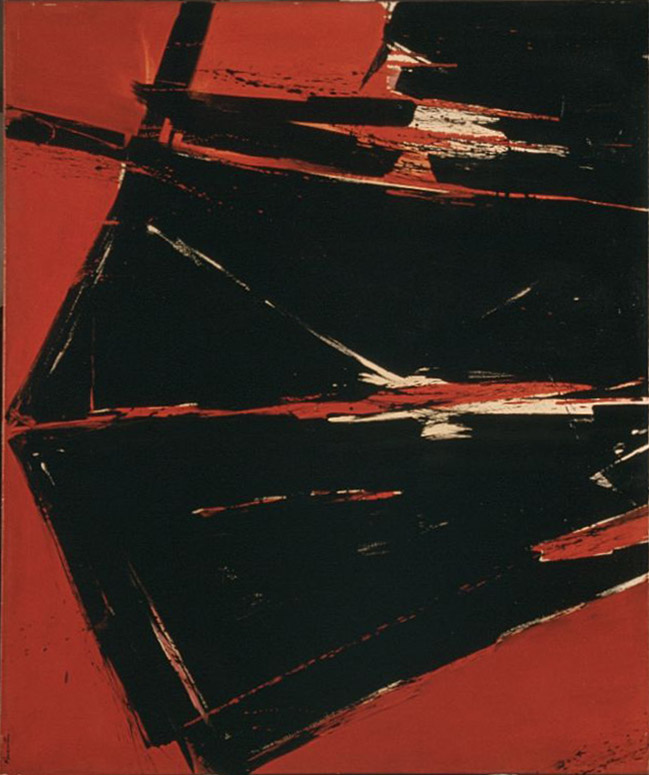 Quarter to Five , 1959 oil on canvas 50 x 60 inches; 127 x 152.4 centimeters