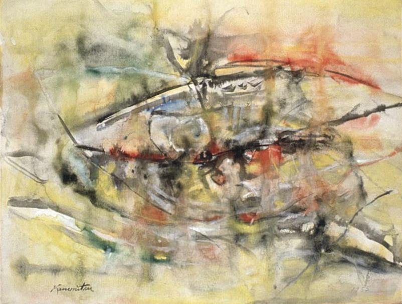 Landscape , 1955 watercolor 17 1/4 x 23 inches; 43.8 x 58.4 centimeters