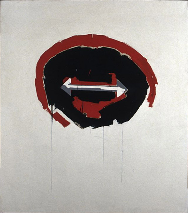 Smile , 1963 acrylic on canvas 68 x 60 inches; 172.7 x 152.4 centimeters