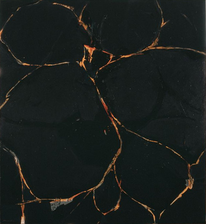 The Hunter , 1960 oil on canvas 72 x 60 inches; 182.8 x 152.4 centimeters
