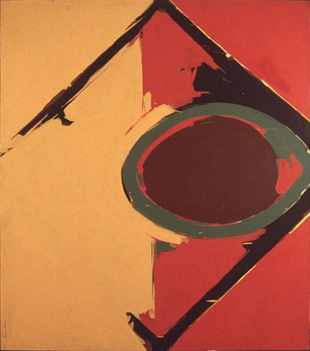 Range , 1963 acrylic on canvas 60 x 68 inches; 152.4 x 172.7 centimeters