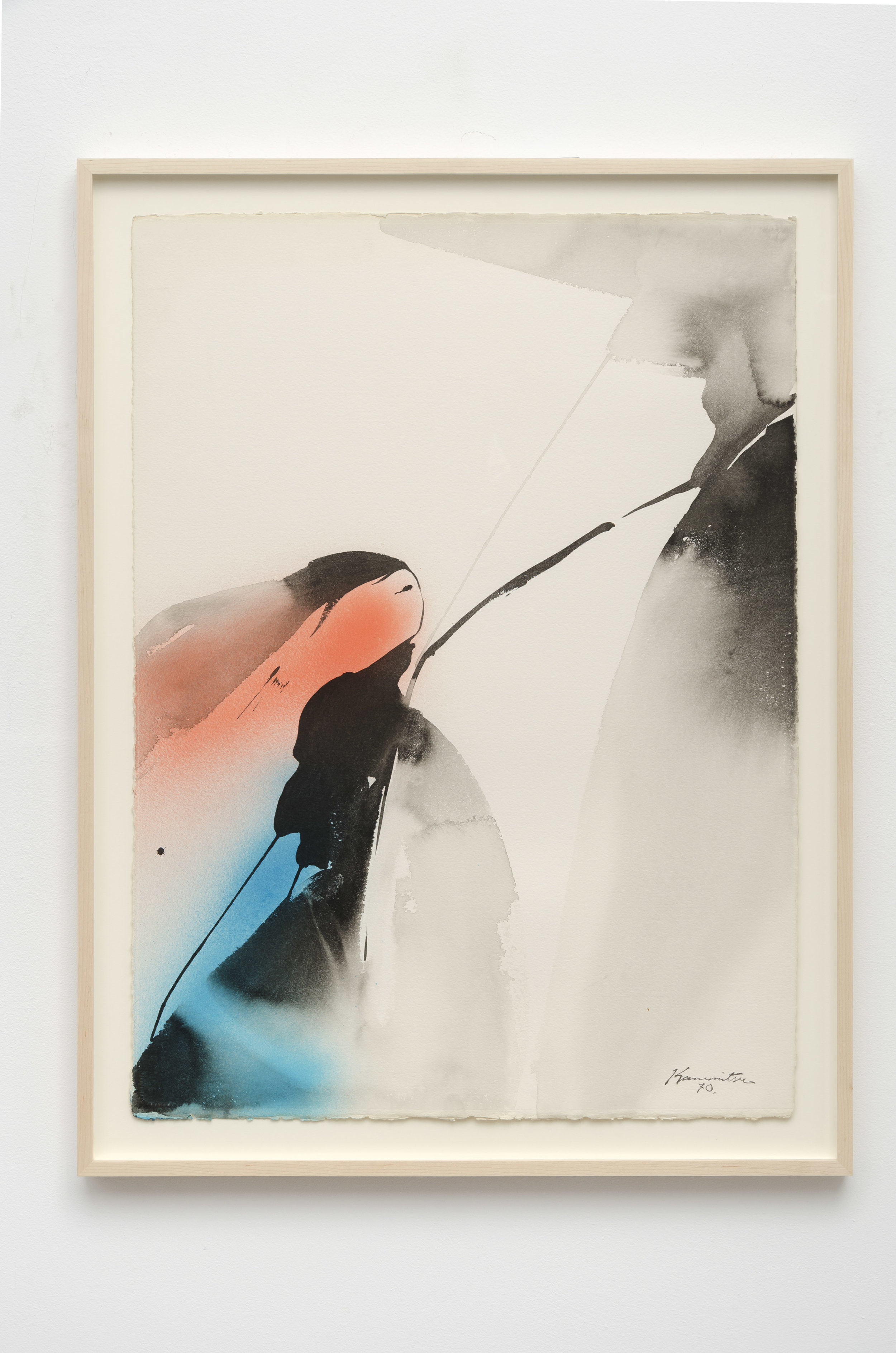 Untitled , 1970 sumi and watercolor on paper 34 1/4 x 25 5/8 inches; 87 x 65.1 centimeters