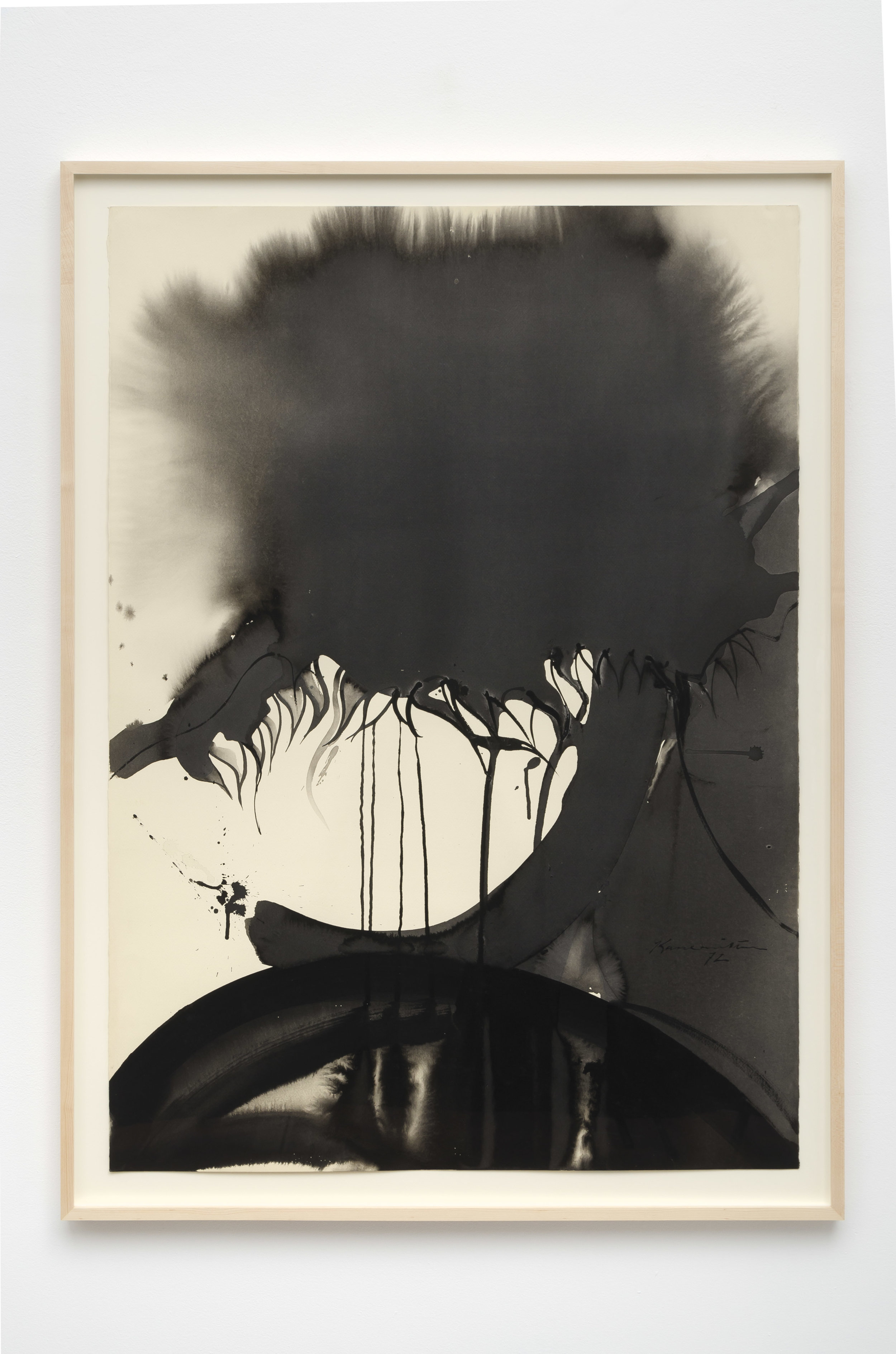 Untitled , 1972 sumi ink on paper 43 x 31 1/4 inches; 109.2 x 79.4 centimeters