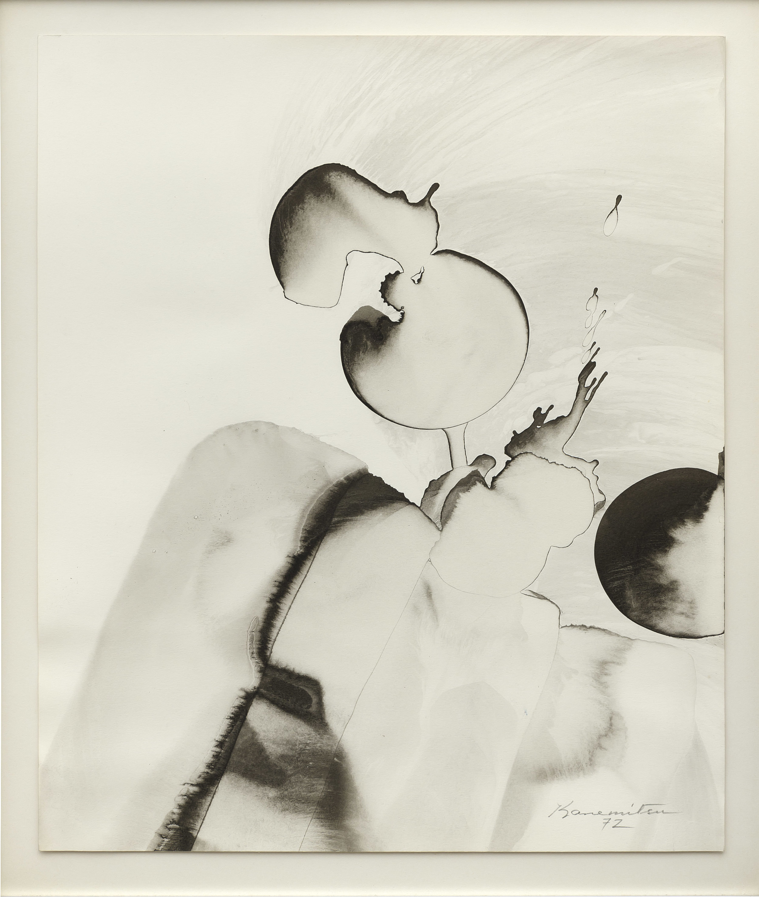 Zoe's Dream , 1972 sumi ink on paper 15.5 x 13 inches; 39.4 x 33 centimeters