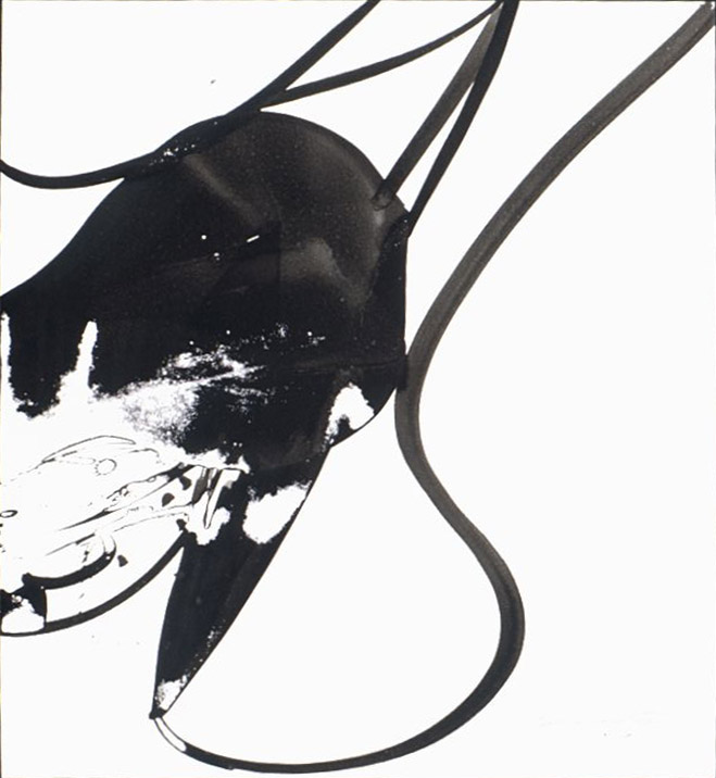 Untitled #7300 , 1973 sumi ink 39 1/2 x 27 1/2 inches; 100.3 x 69.9 centimeters