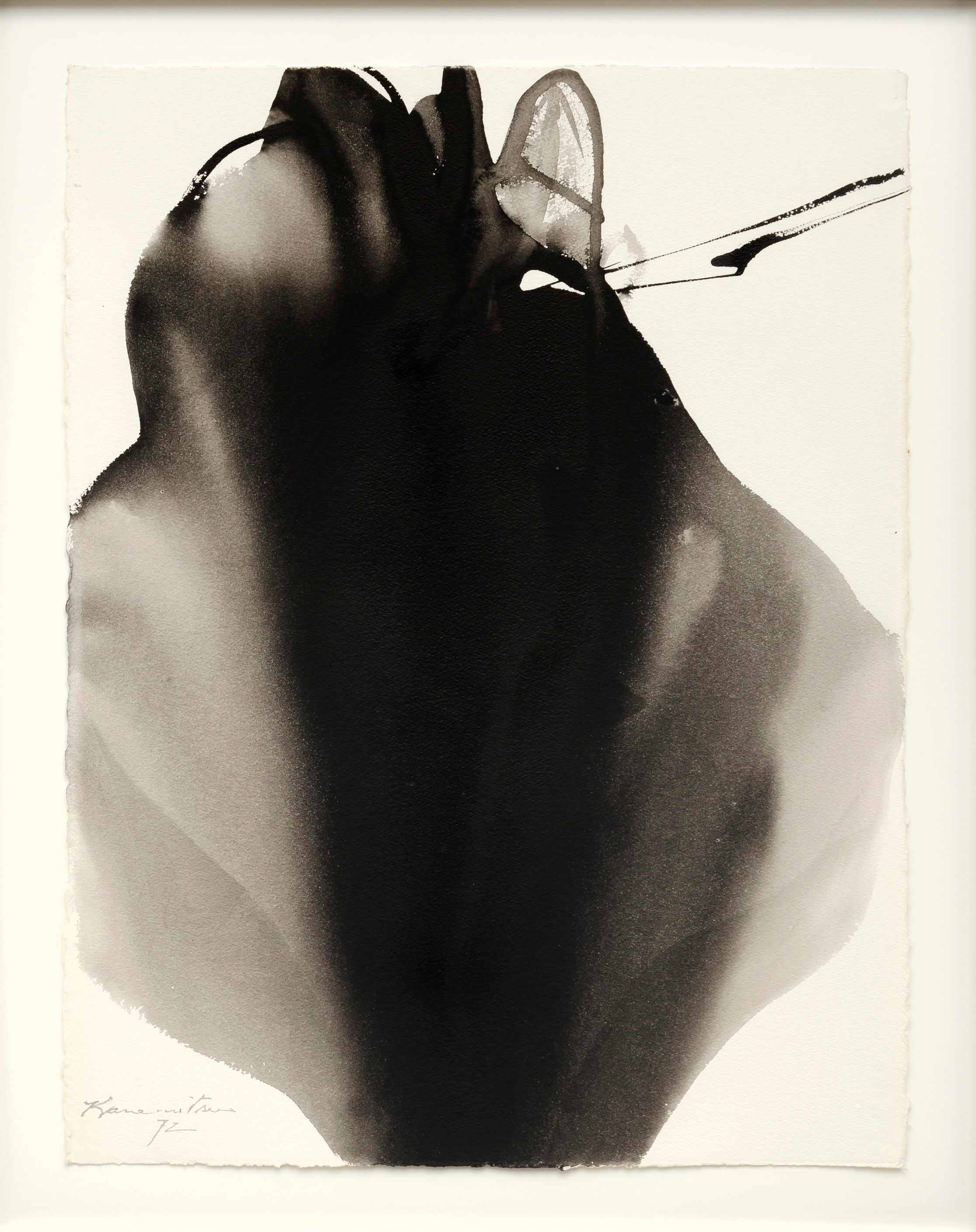 Untitled #35 , 1972 sumi on paper 35 x 27.5 inches; 88.9 x 69.8 centimeter