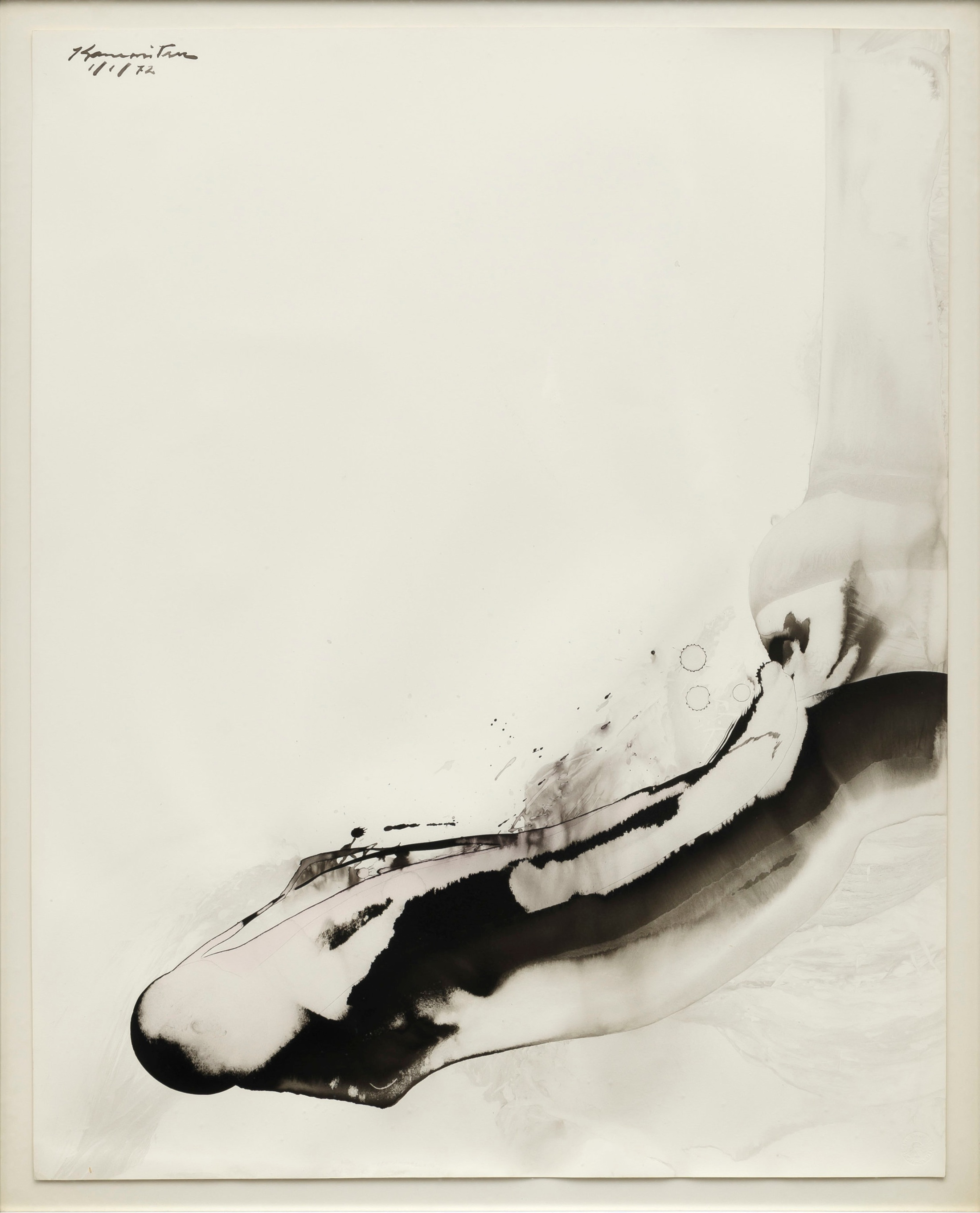 Whales , 1972 sumi on paper 34 x 25 inches; 86.4 x 63.5 centimeters