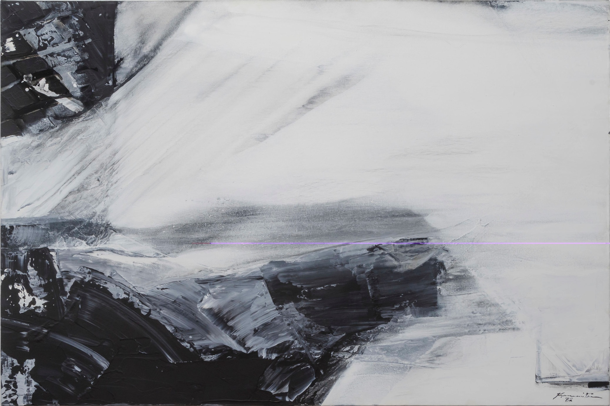 Pacific Series #11 , 1982 acrylic on canvas 48 x 72 inches; 121.9 x 182.9 centimeters
