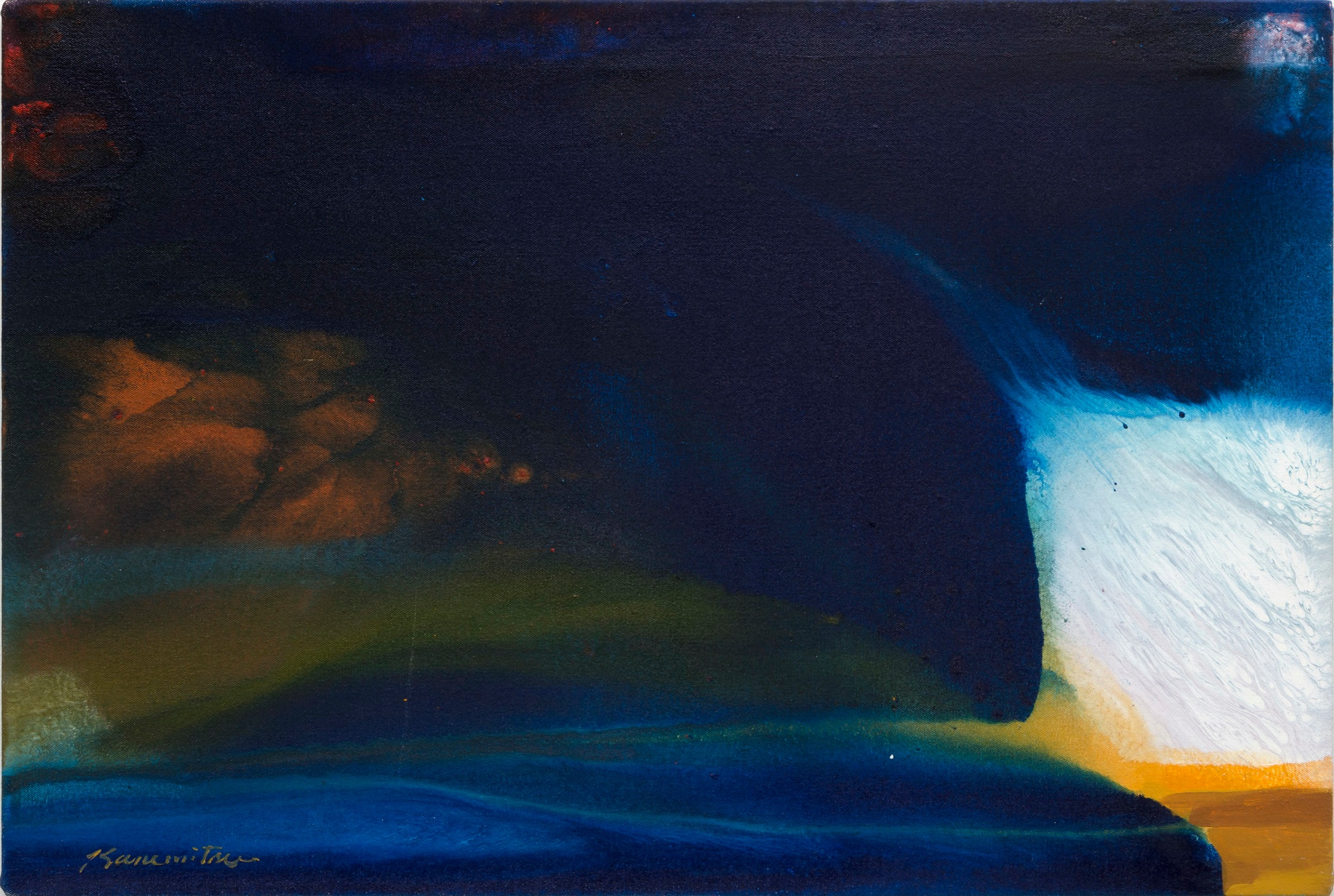 Winter Night , 1983 acrylic on canvas 20 x 30 inches; 50.8 x 76.2 centimeters