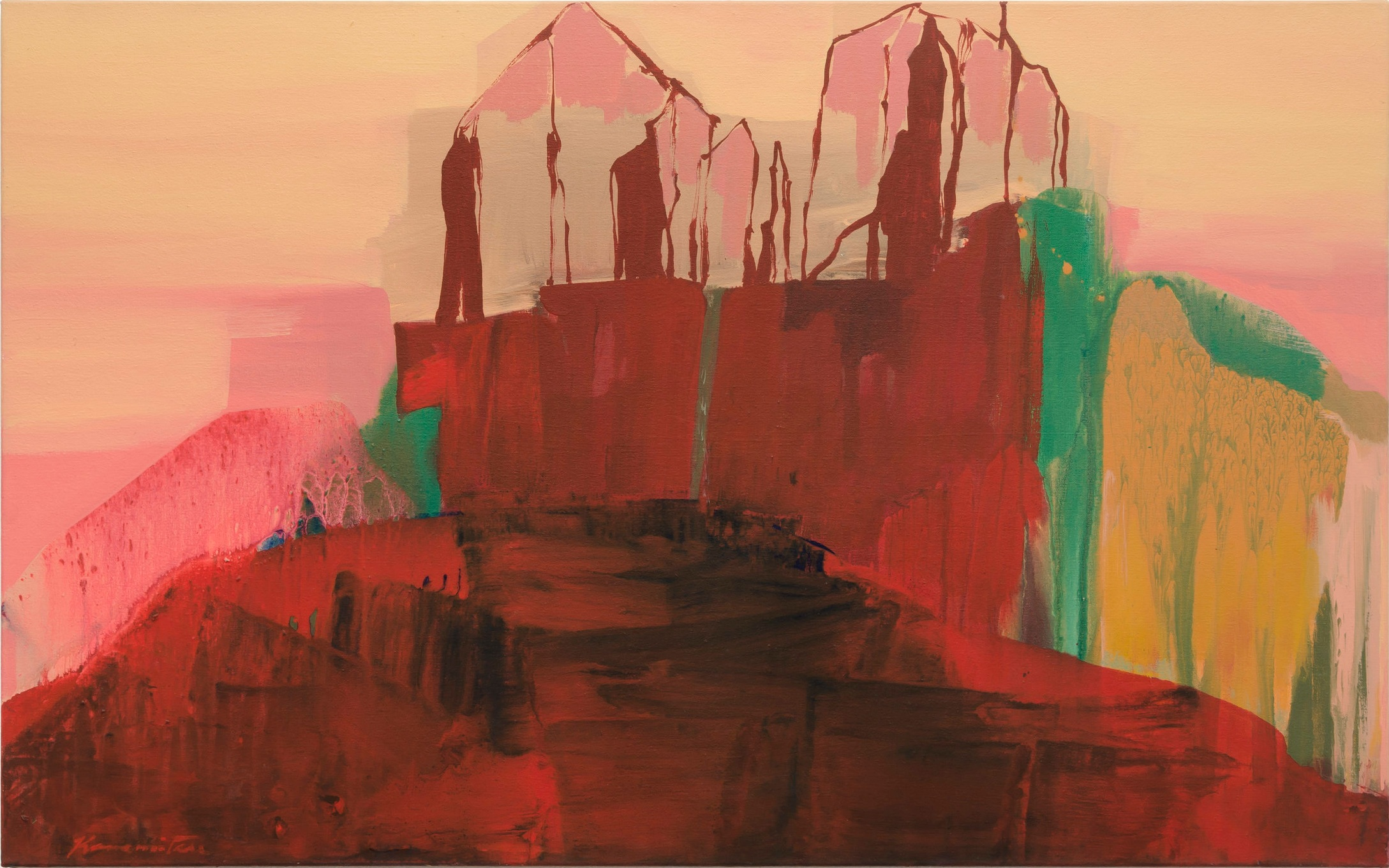 Sunset – Desert , 1989 acrylic on canvas 30.25 x 48.25 inches; 76.8 x 122.6 centimeters