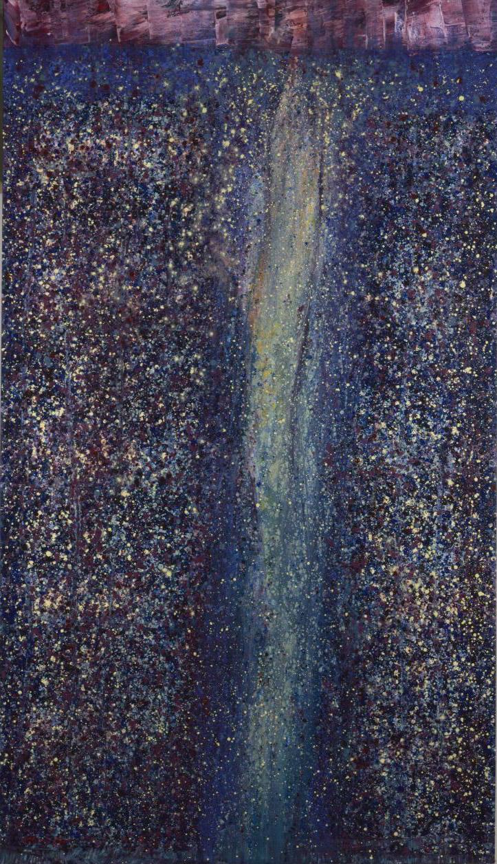 Autumn Falls , 1989 acrylic on canvas