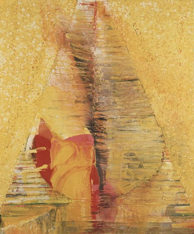 Momotaro , 1987 acrylic on canvas 72 x 60 inches; 182.9 x 152.4 centimeters