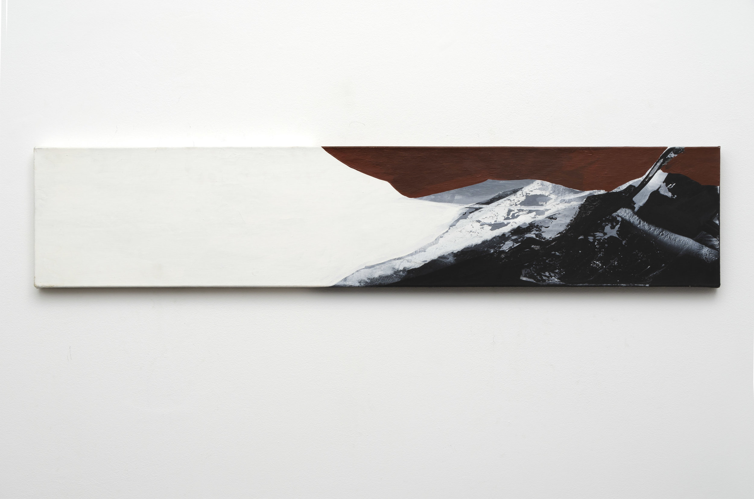 Untitled , c. 1980s acrylic on canvas 10.25 x 50.5 inches; 26 x 128.3 centimeters