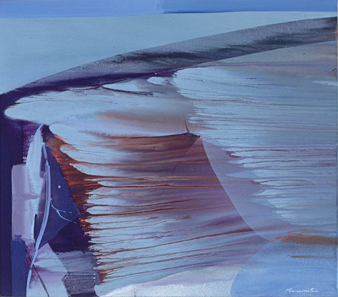 Morning Waves , 1988 acrylic on canvas