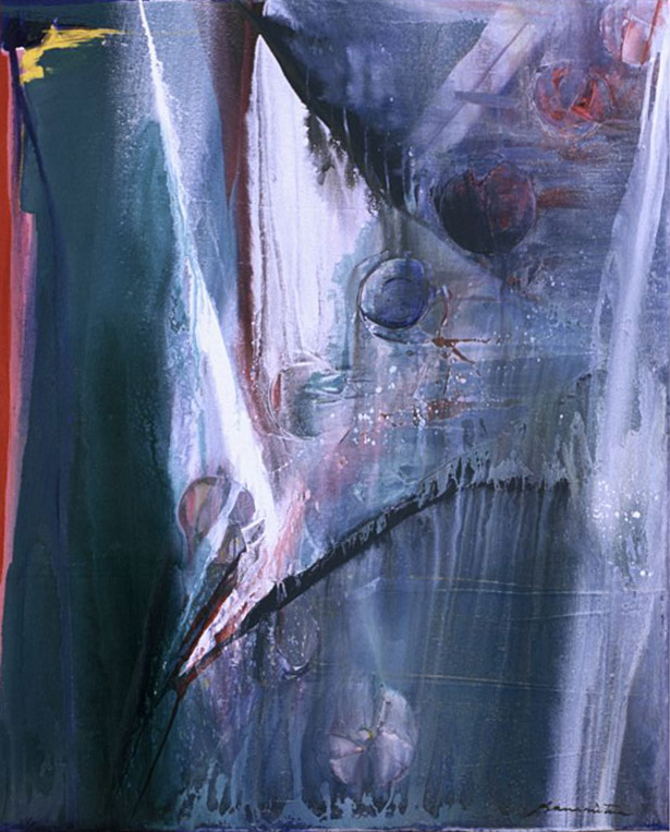Pacific Series #82 , 1987 acrylic on canvas 40 x 50 inches; 101.6 x 127 centimeters