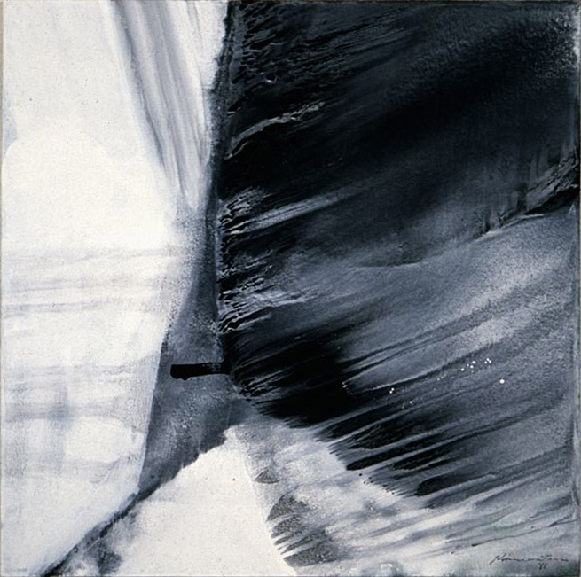 Pacific Series- Wave #5 , 1981 acrylic on canvas 48 x 48 inches; 121.9 x 121.9 centimeters