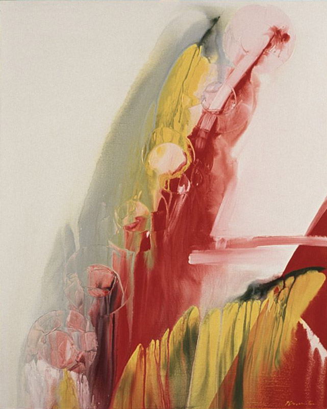 Rotating Summer Sun , 1987 acrylic on canvas 60 x 48 inches; 152.4 x 121.9 centimeters