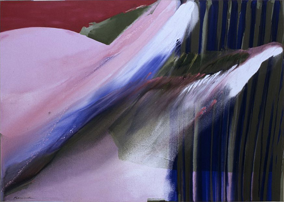 Spring Winds #10 , 1988 acrylic on canvas 60 x 84 1/2 inches; 152.4 x 214.6 centimeters