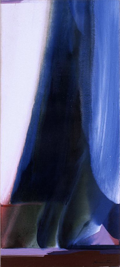 Wave #21 , 1983 acrylic on canvas 56 x 25 inches; 142.2 x 63.5 centimeters