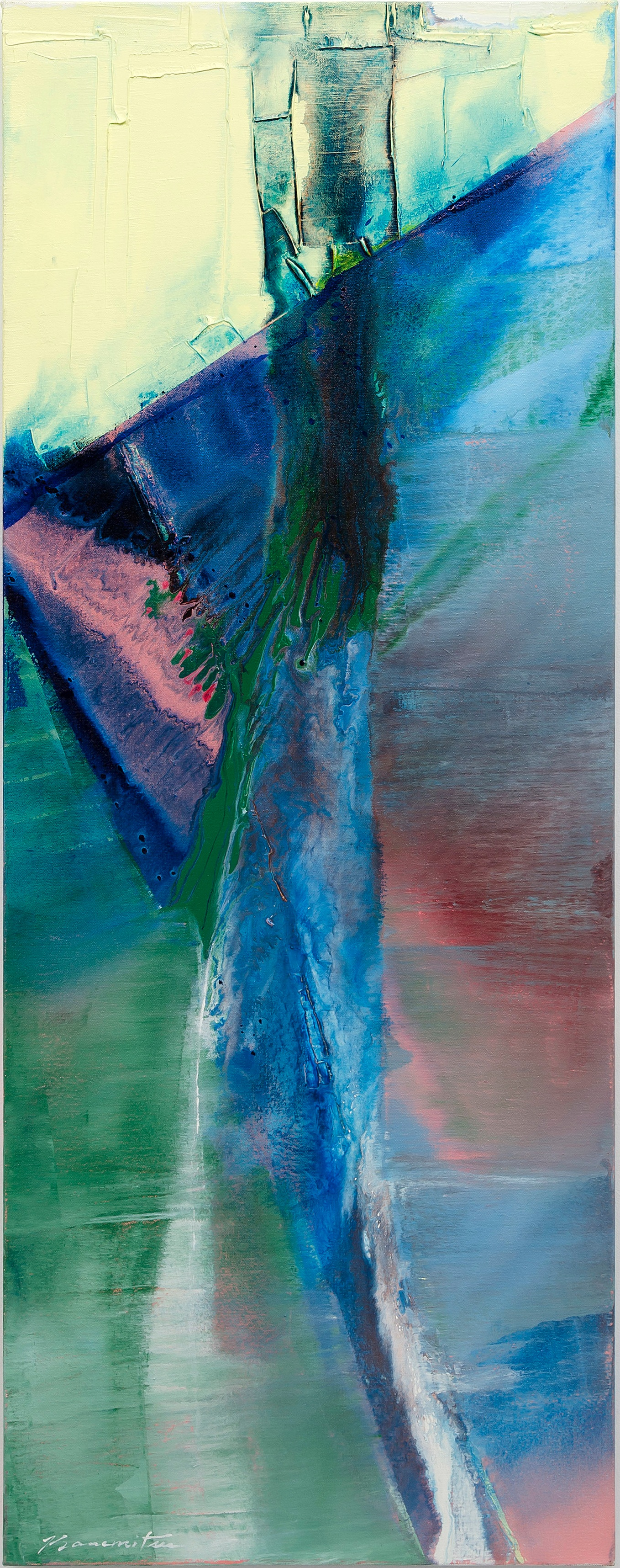 Pacific Series #77-88 , 1988 acrylic on canvas 50 x 19 inches; 127 x 48.3 centimeters