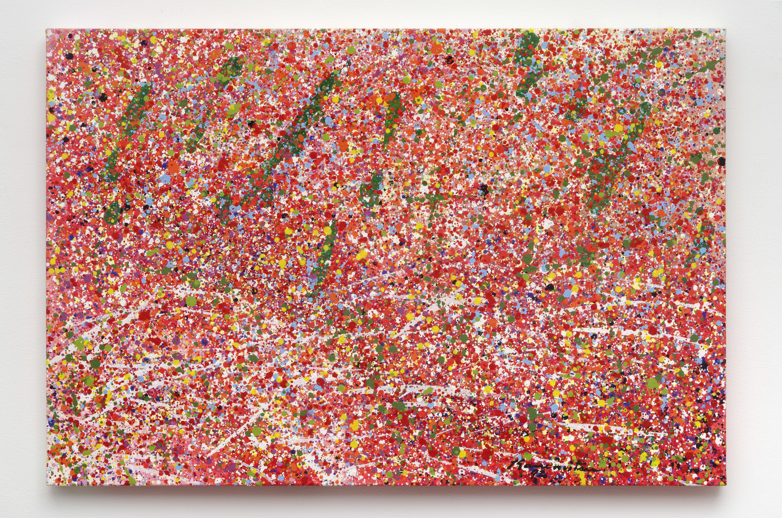 Untitled (K) , 1992 acrylic on canvas 24 x 36.5 inches; 61 x 92.7 centimeters